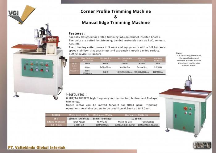 jual mesin, harga mesin, distributor mesin, jual mesin karet, daur ulang plastik  Corner Profile Trimming Machine
