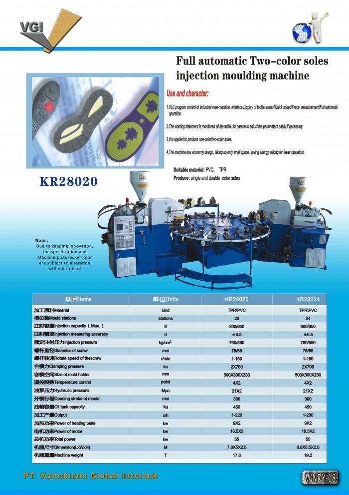 jual mesin, harga mesin, distributor mesin, jual mesin karet, daur ulang plastik Color Soles Injection Moulding Machine 1