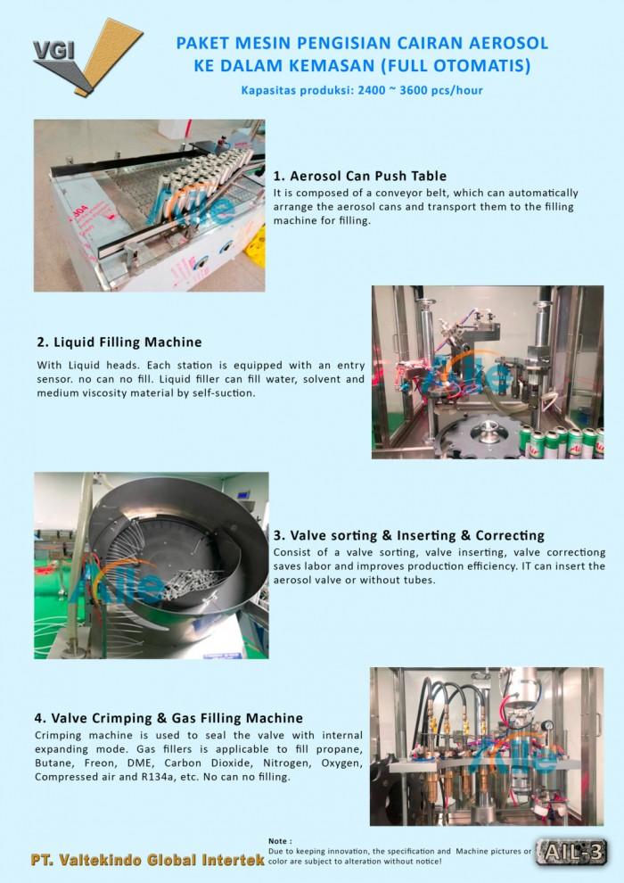 jual mesin, harga mesin, distributor mesin, jual mesin karet, daur ulang plastik Paket Mesin Pengisian Cairan Aerosol 3