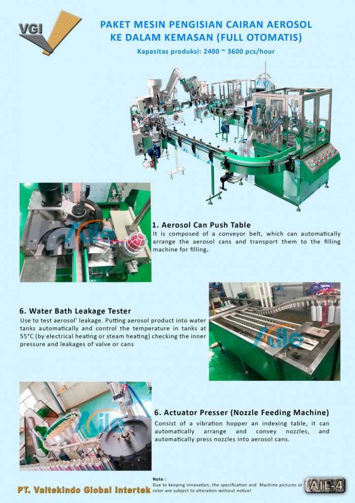 jual mesin, harga mesin, distributor mesin, jual mesin karet, daur ulang plastik Paket Mesin Pengisian Cairan Aerosol 4