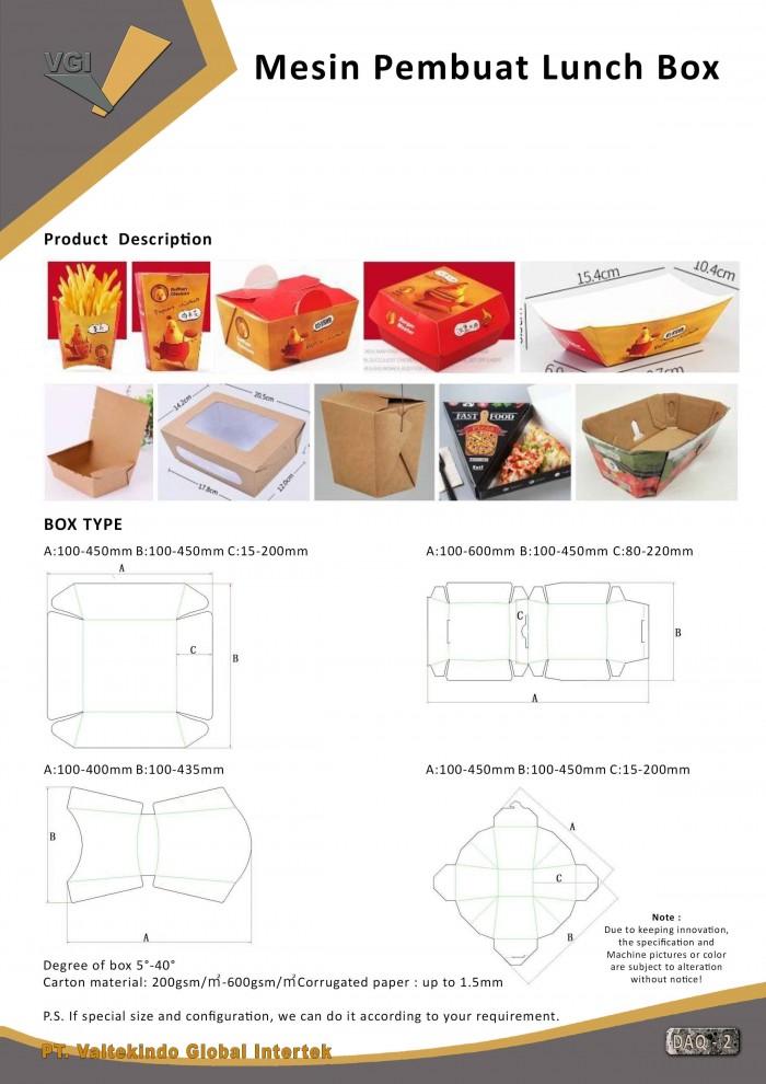 jual mesin, harga mesin, distributor mesin, jual mesin karet, daur ulang plastik Mesin Pembuat Paper Kertas Lunch Box 2