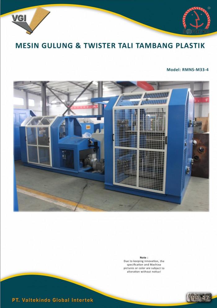 jual mesin, harga mesin, distributor mesin, jual mesin karet, daur ulang plastik MESIN GULUNG & TWISTER TALI TAMBANG PLASTIK 1