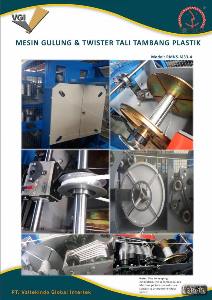 jual mesin, harga mesin, distributor mesin, jual mesin karet, daur ulang plastik MESIN GULUNG & TWISTER TALI TAMBANG PLASTIK 2