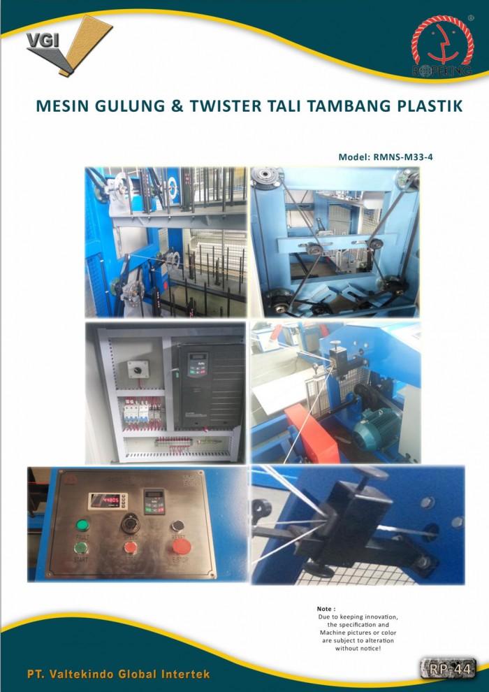 jual mesin, harga mesin, distributor mesin, jual mesin karet, daur ulang plastik MESIN GULUNG & TWISTER TALI TAMBANG PLASTIK 3