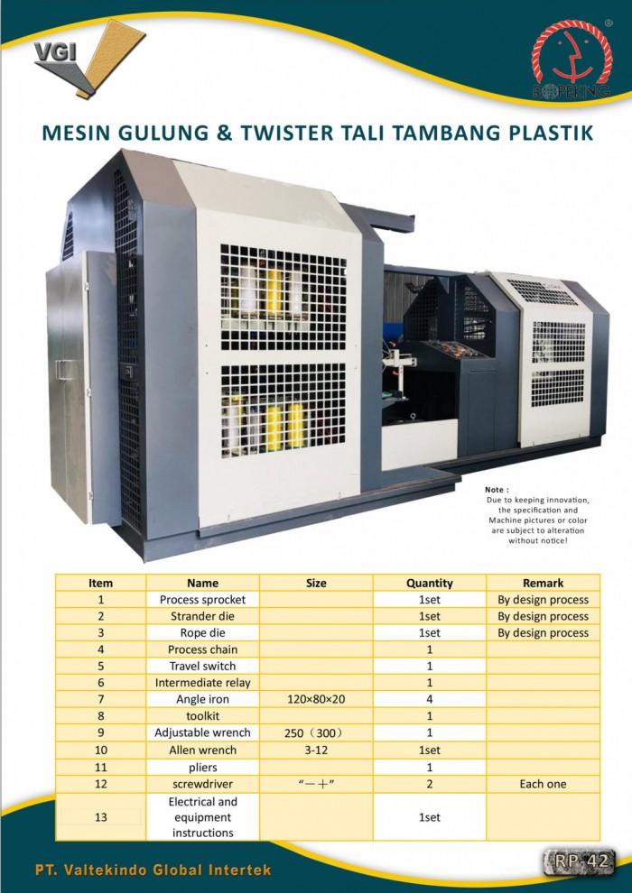 jual mesin MESIN GULUNG & TWISTER TALI TAMBANG PLASTIK 6