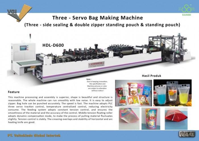 jual mesin Mesin Pembuat Kemasan Ziplock Standing Pouch 1