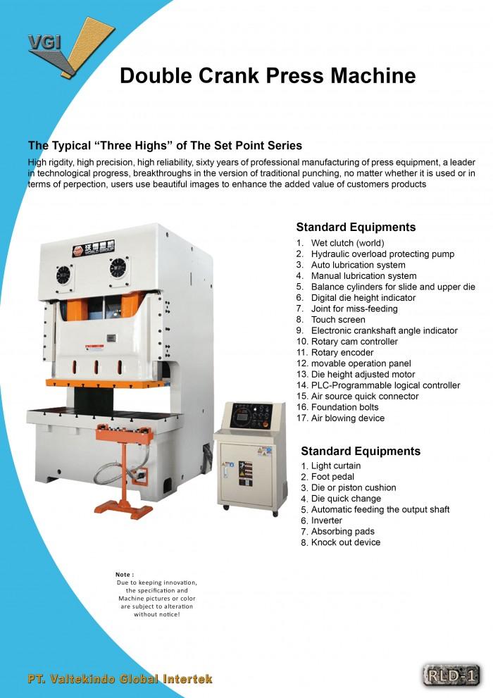 jual mesin Mesin Press Double Crank
