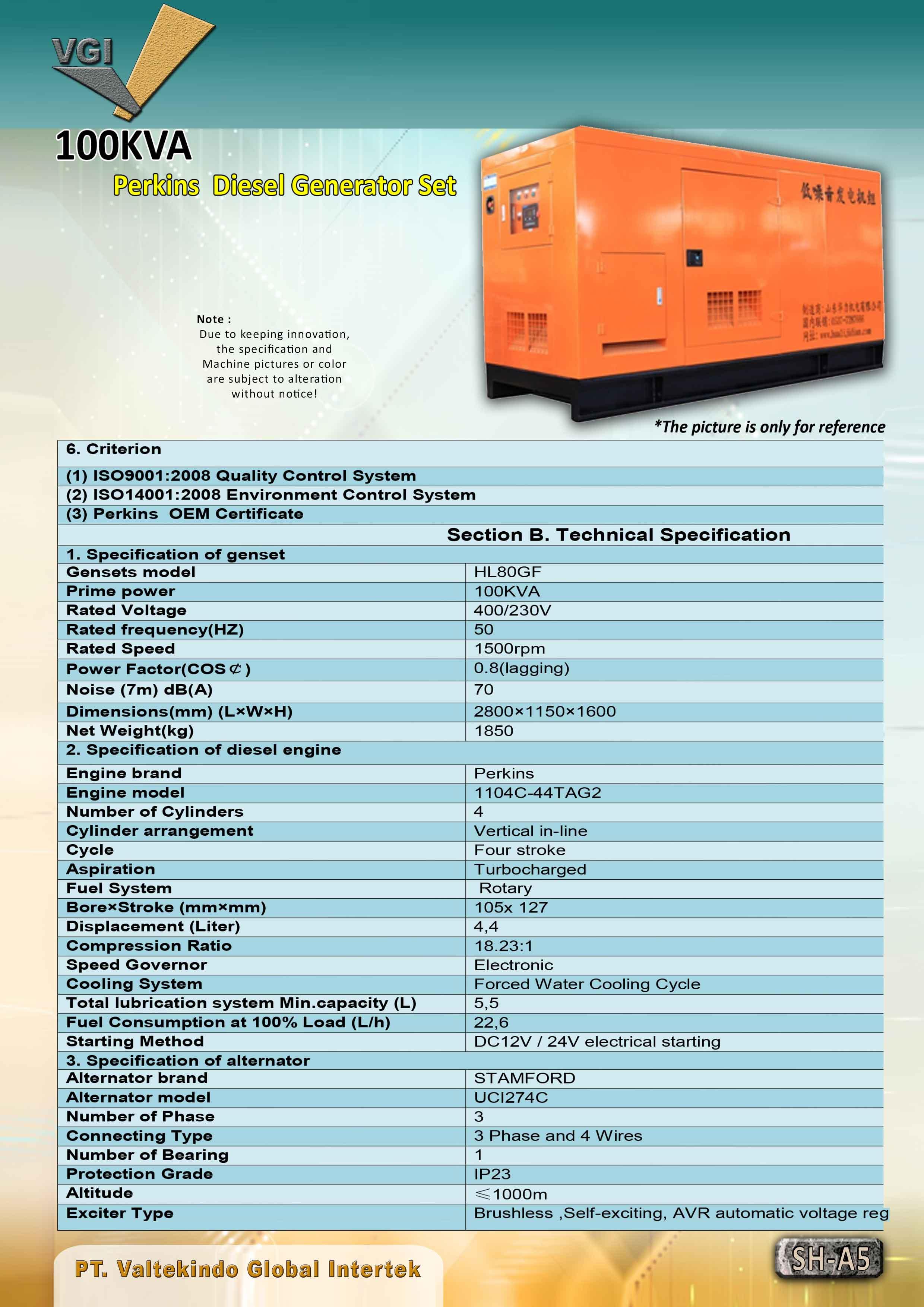 jual mesin, harga mesin, jual mesin bandung, distributor mesin, jual mesin karet, daur ulang karet, daur ulang plastik, mesin pertanian 100 KVA Perkins Diesel Generator Set 100 KVA Perkins Diesel Generator Set