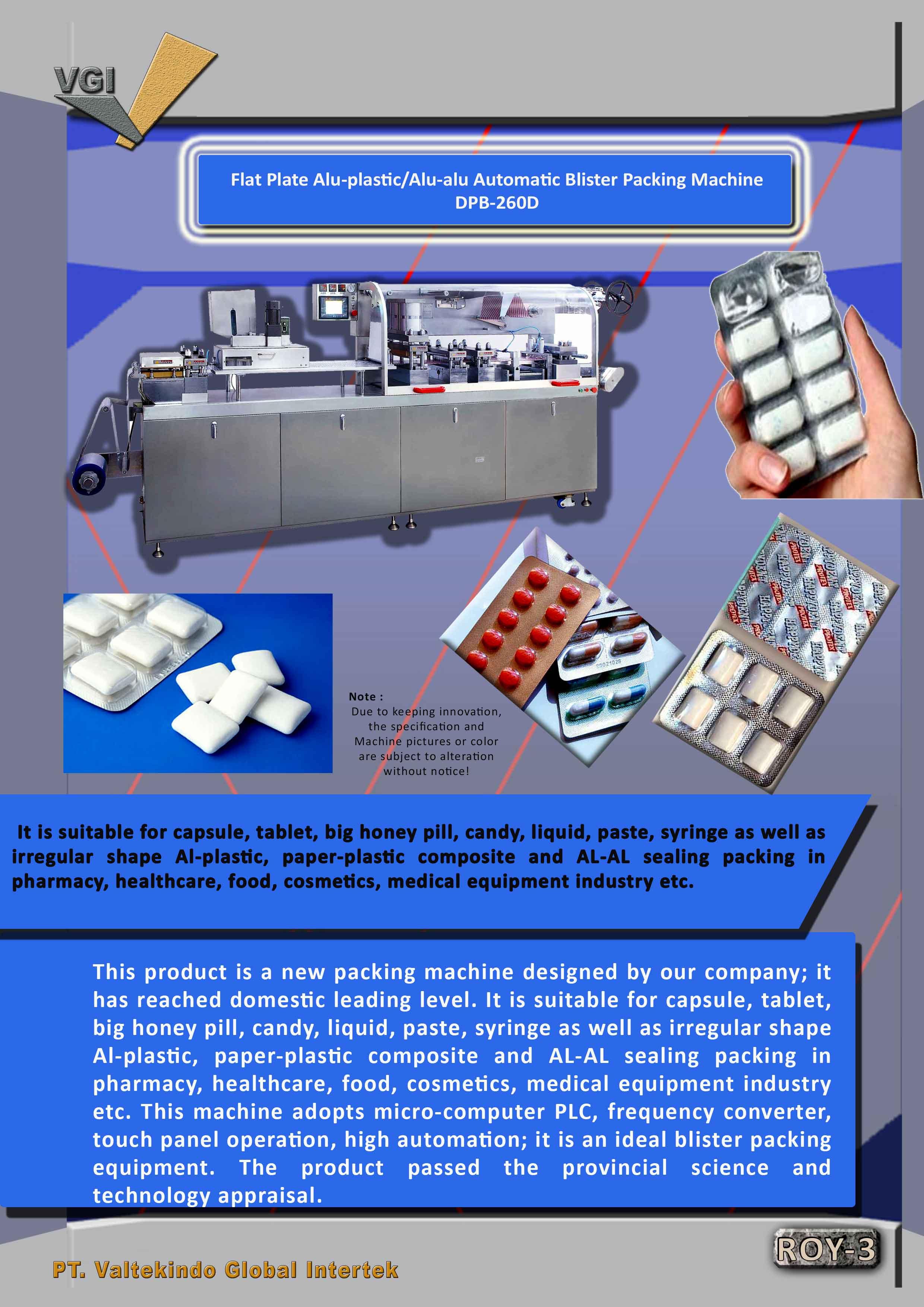 jual mesin Alu-alu Automatic Blister Packing Machine  Alu-alu Automatic Blister Packing Machine