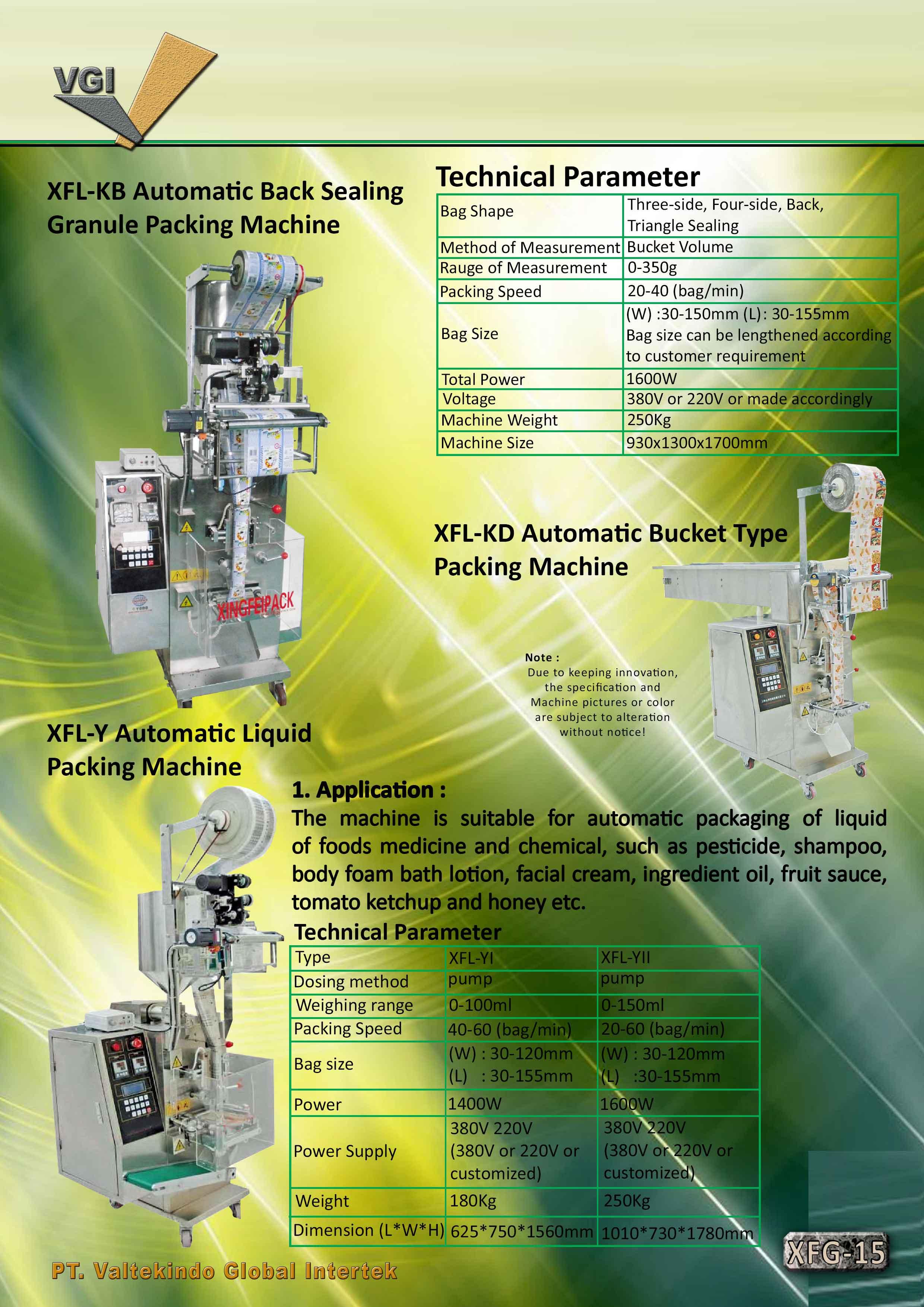 jual mesin Automatic Back Sealing Granule Packing Automatic Back Sealing Granule Packing
