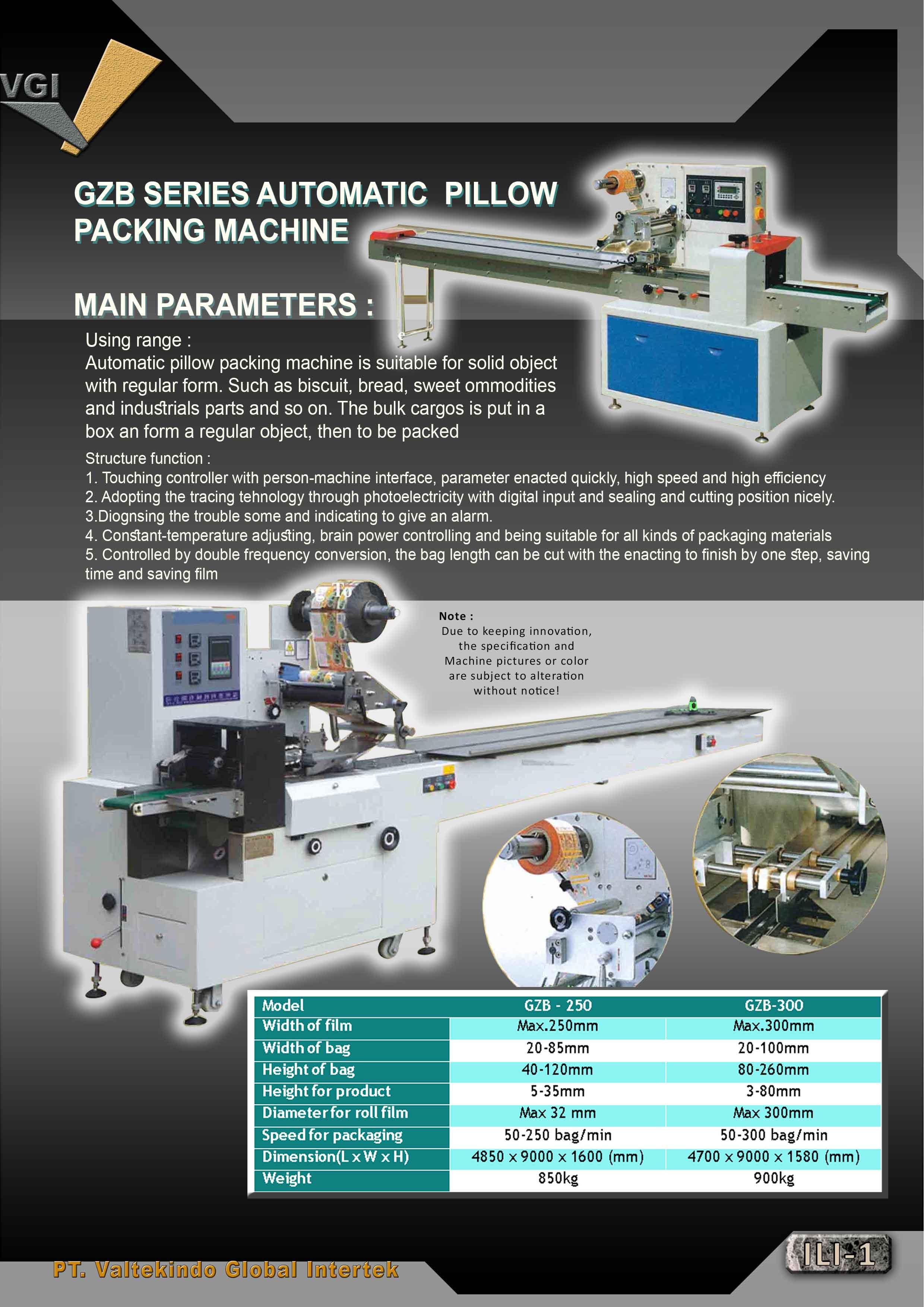 jual mesin Automatic Pillow Packing Machine Automatic Pillow Packing Machine