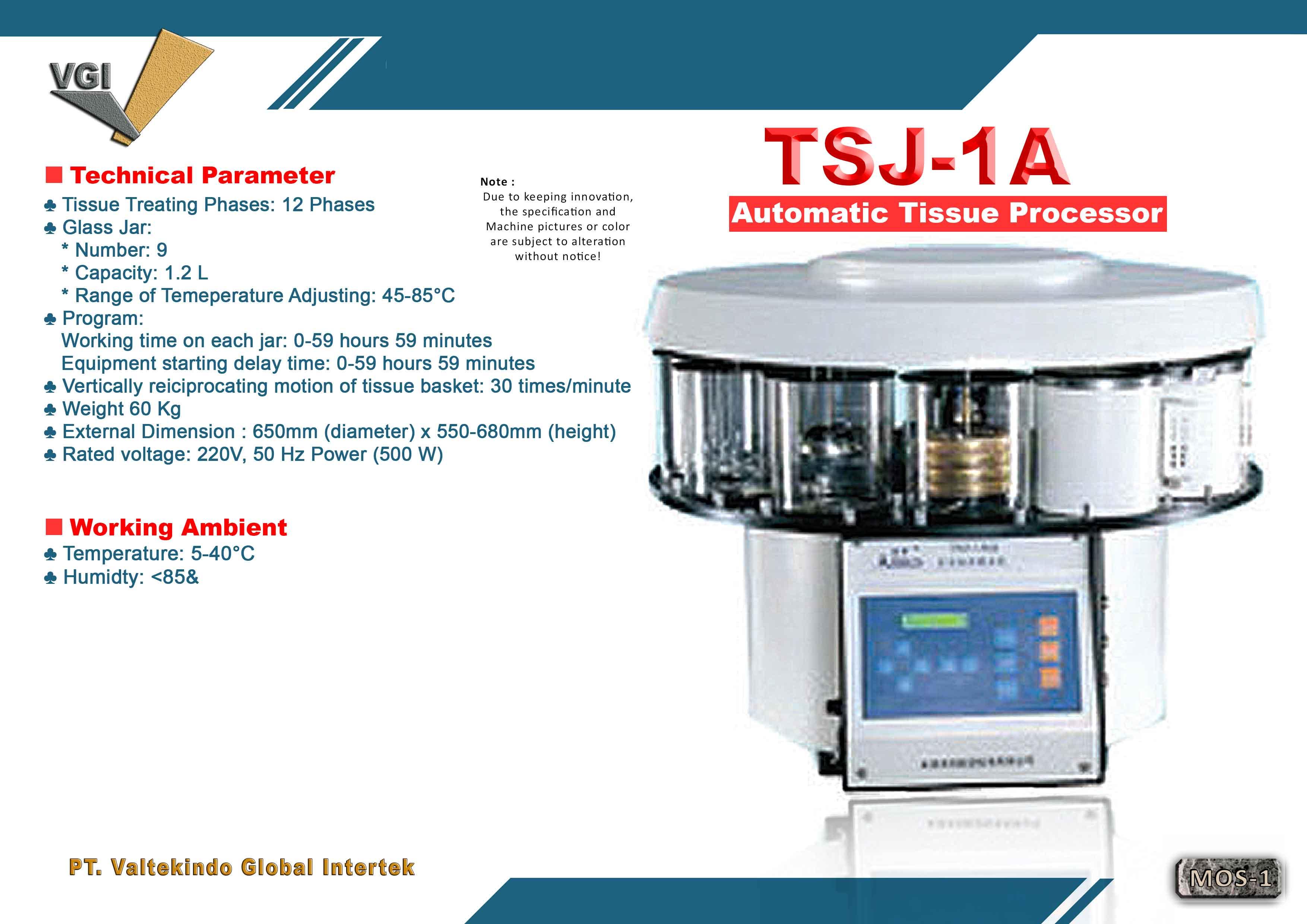 jual mesin Automatic Tissue Processor Automatic Tissue Processor