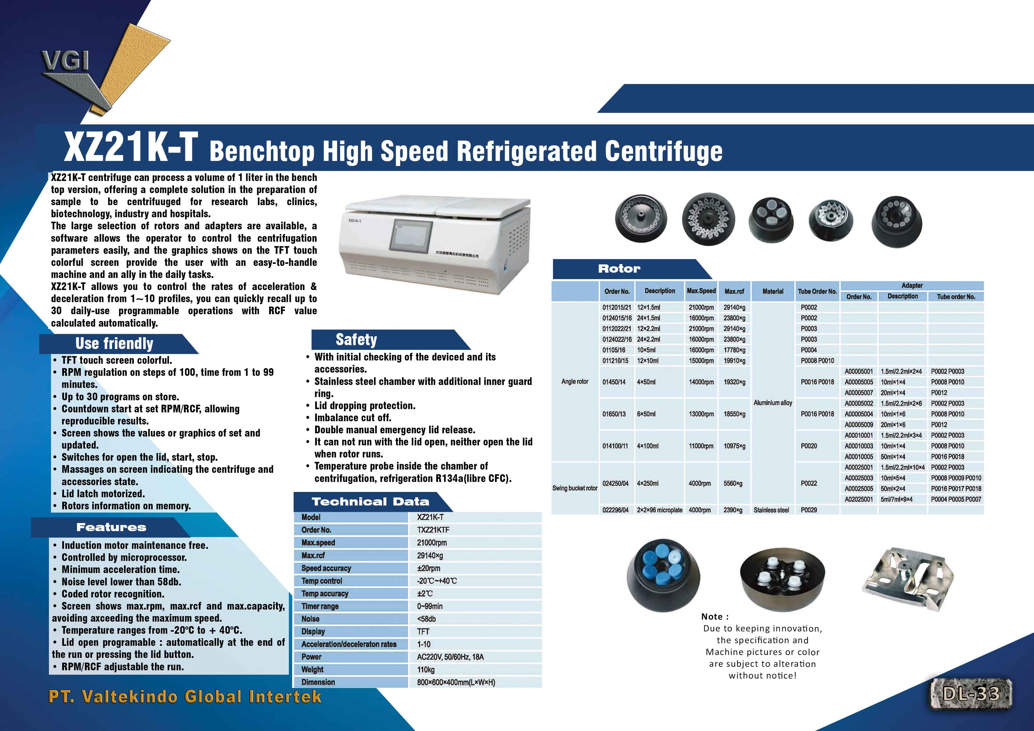 jual mesin Benchtop High Speed Refrigerated Centrifuge Benchtop High Speed Refrigerated Centrifuge