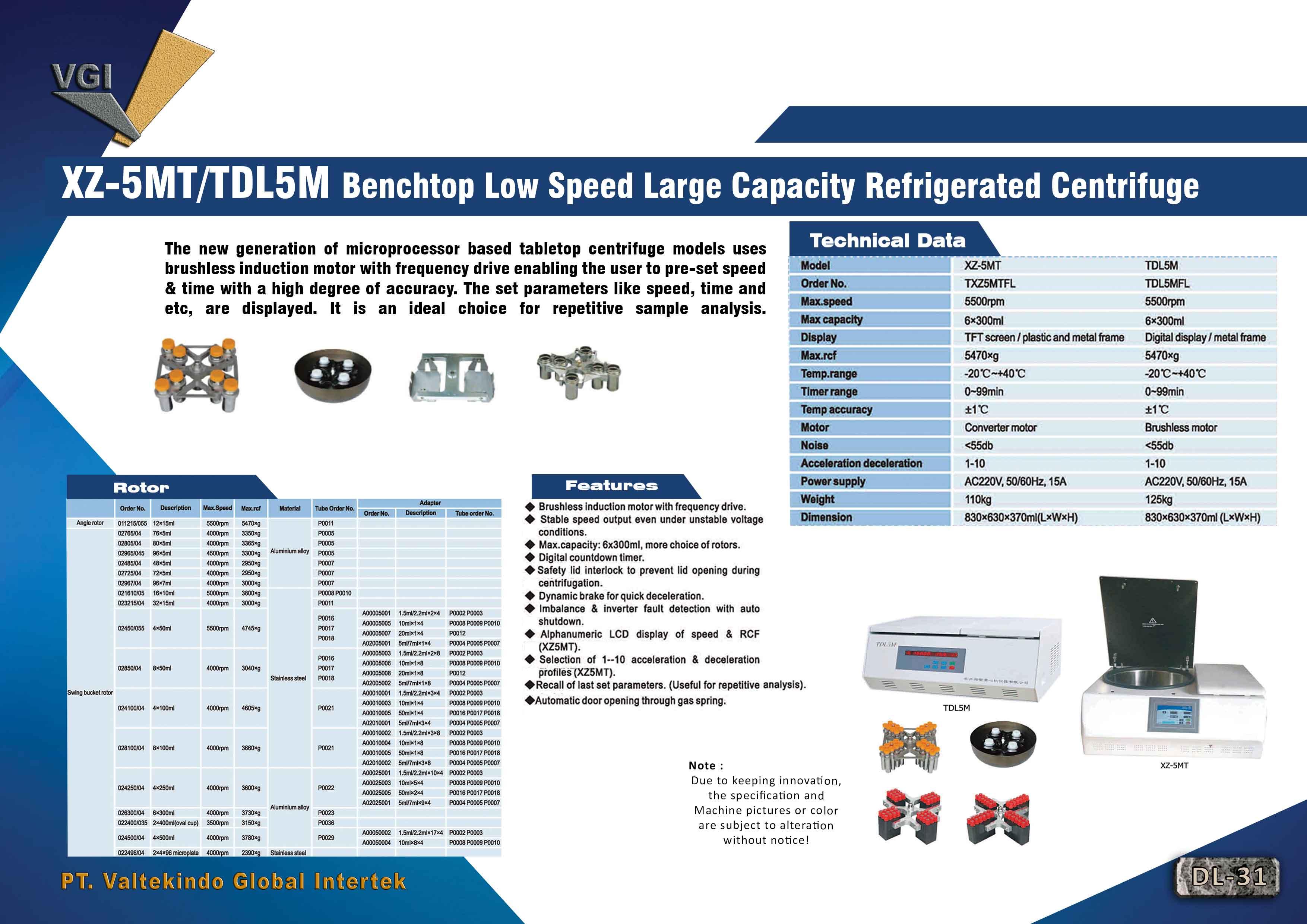 jual mesin Benchtop Low Speed Large Capacity Refrigerated Centrifuge Benchtop Low Speed Large Capacity Refrigerated Centrifuge