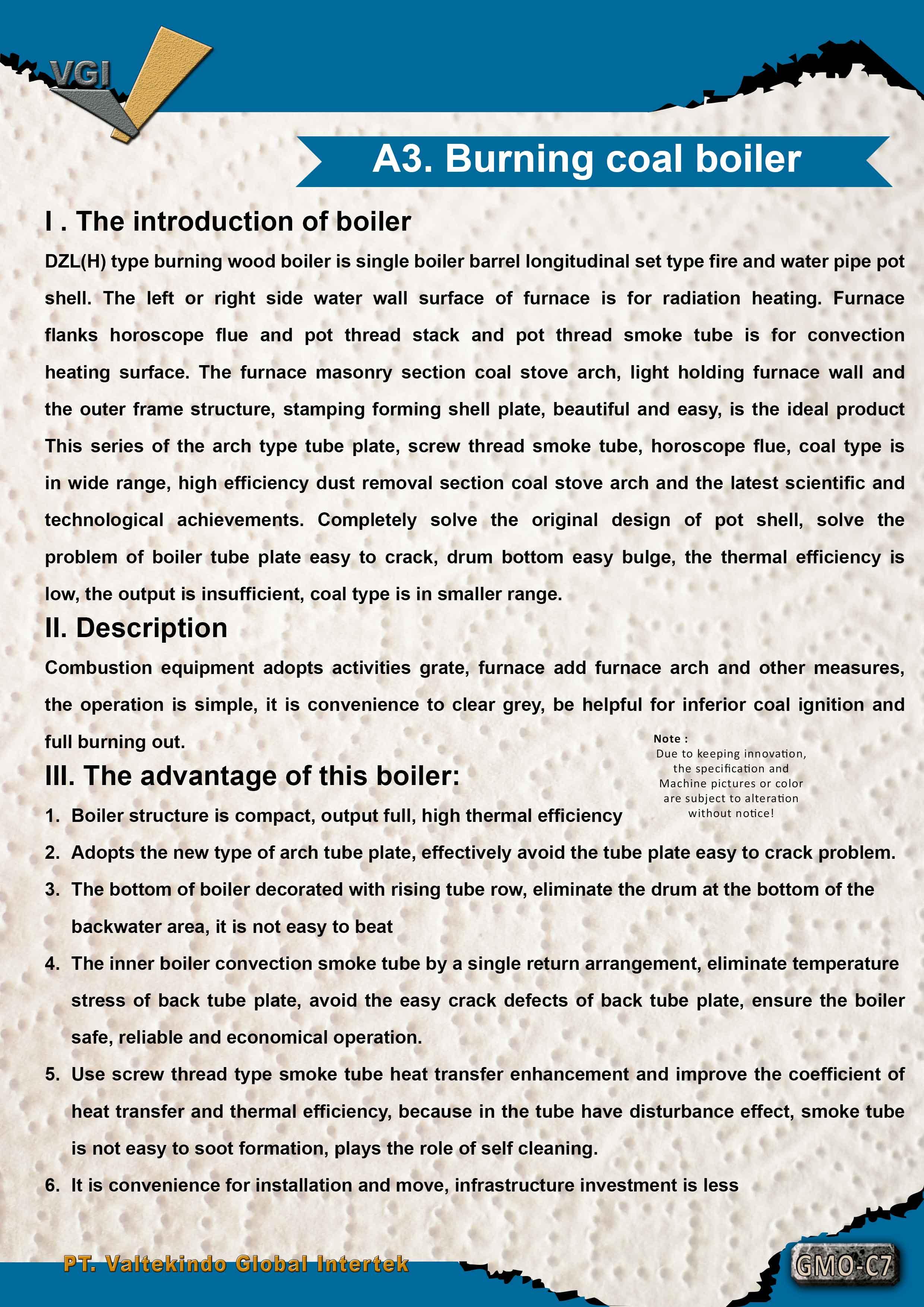 jual mesin Burning coal boiler 1 Burning coal boiler 1