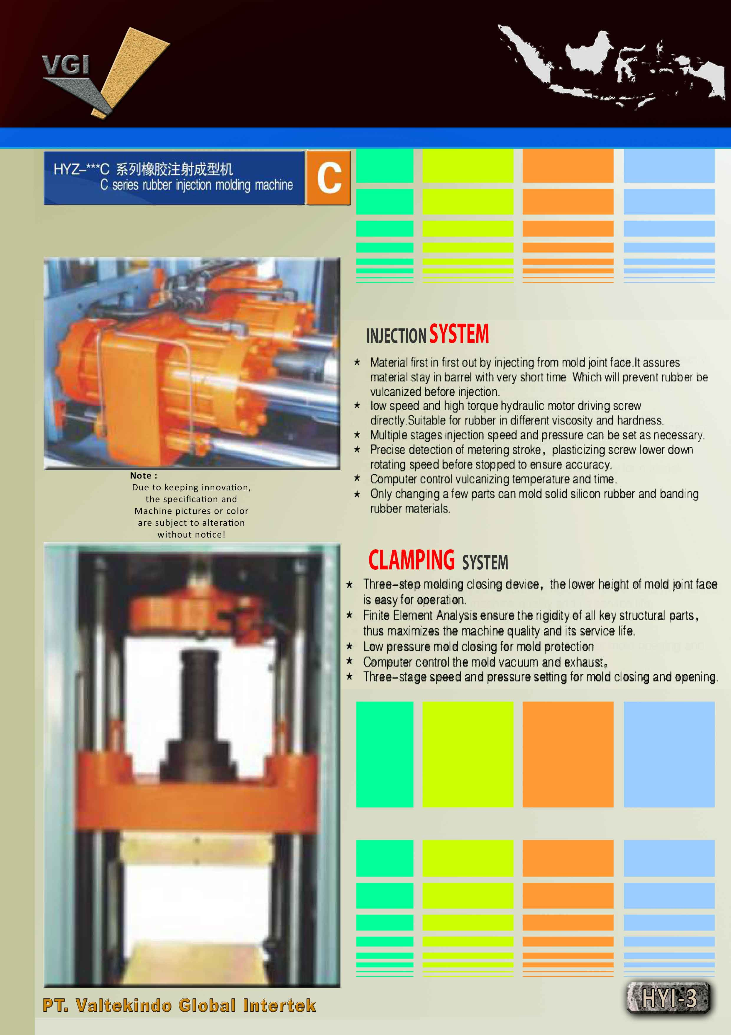 jual mesin C SERIES RUBBER INJECTION SYSTEM C SERIES RUBBER INJECTION SYSTEM