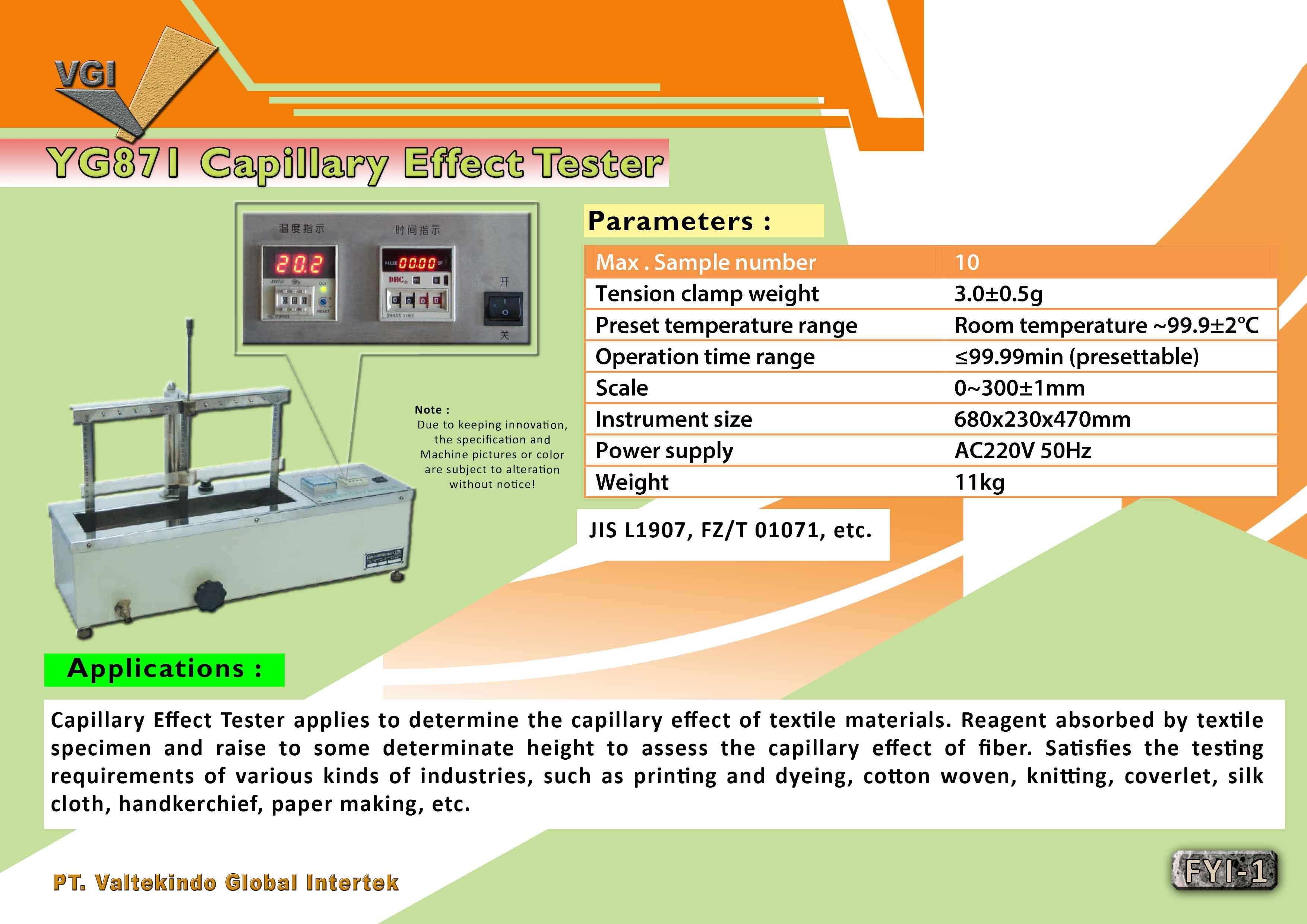 jual mesin, harga mesin, distributor mesin, jual mesin karet, daur ulang plastik Capillary Effecty Tester Capillary Effecty Tester