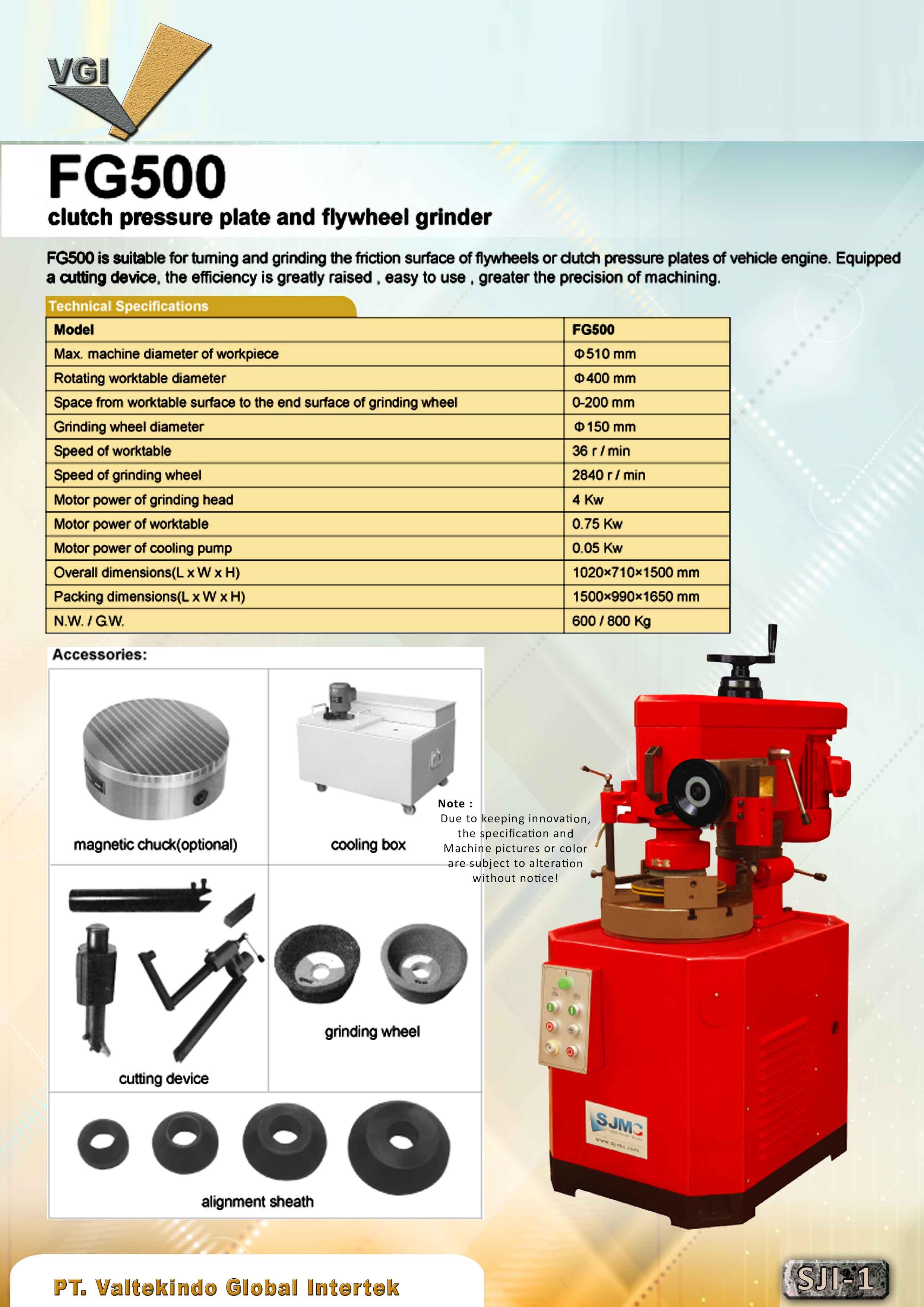 jual mesin Clutch Pressure Plate and Flywheel Grinder