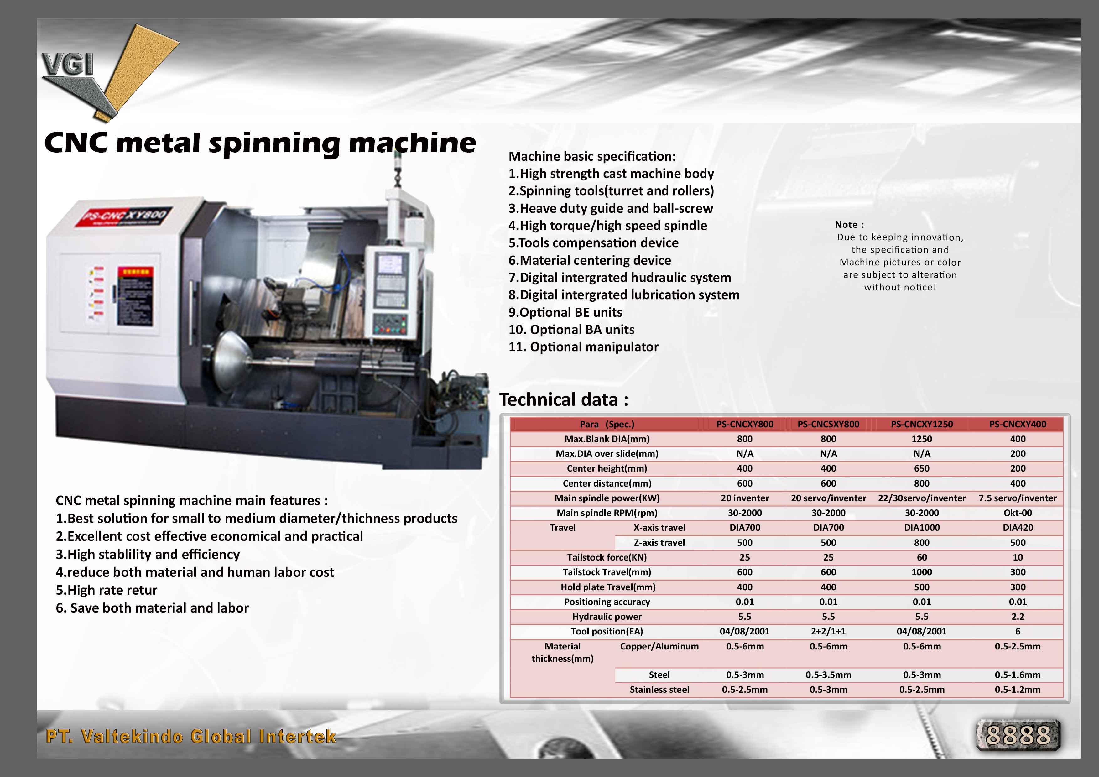 jual mesin CNC Metal Spinning Machine CNC Metal Spinning Machine