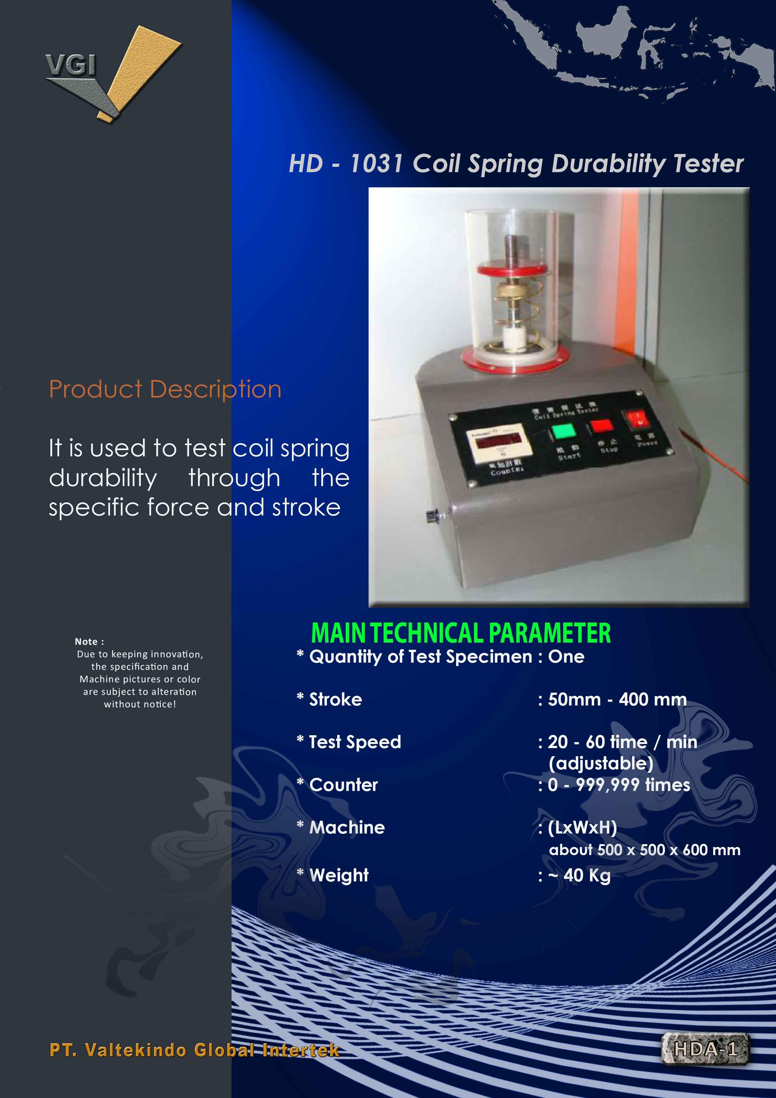 jual mesin Coil Spring Durability Tester Coil Spring Durability Tester