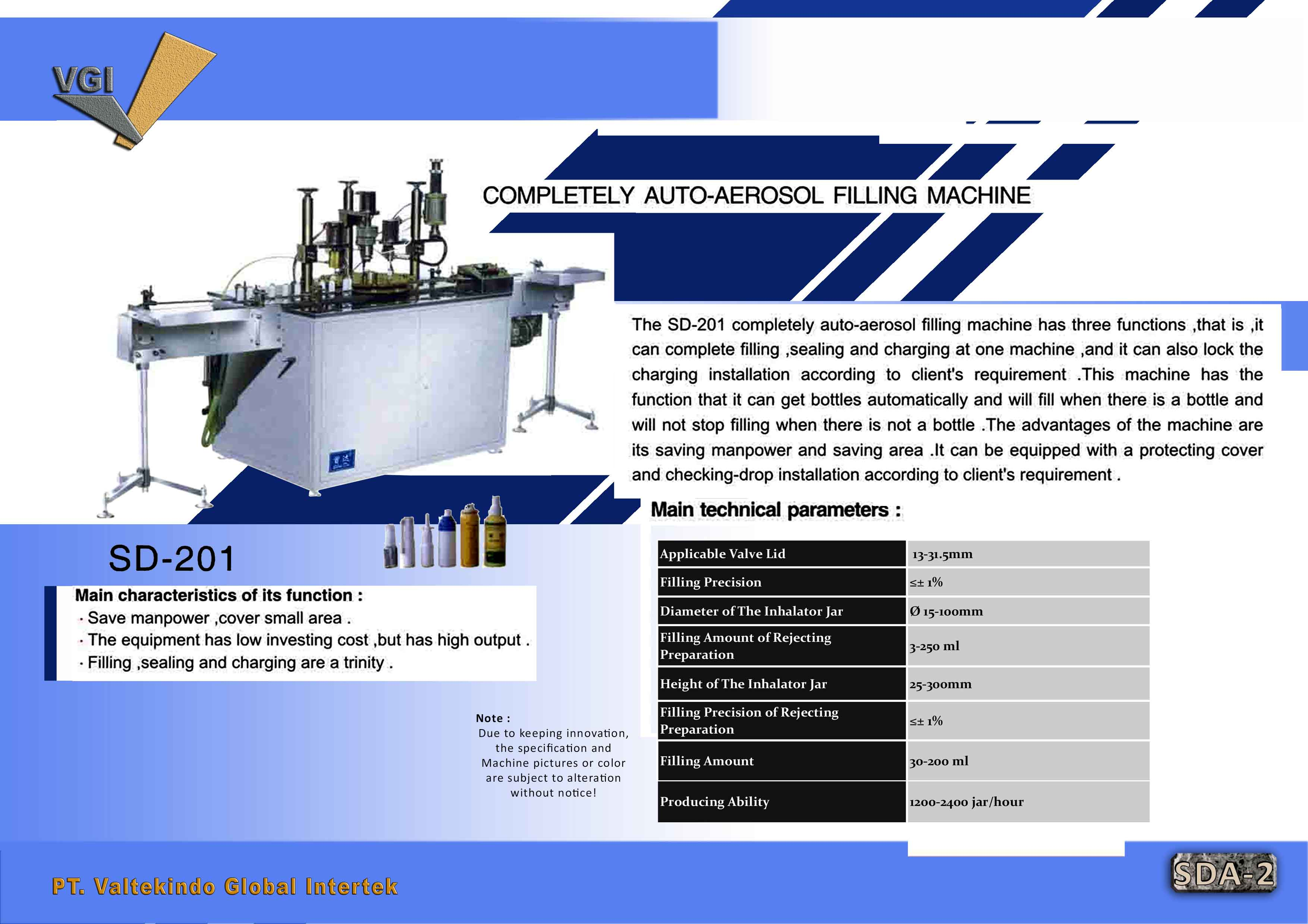 jual mesin Completely Auto Aerosol Filling Machine Completely Auto Aerosol Filling Machine