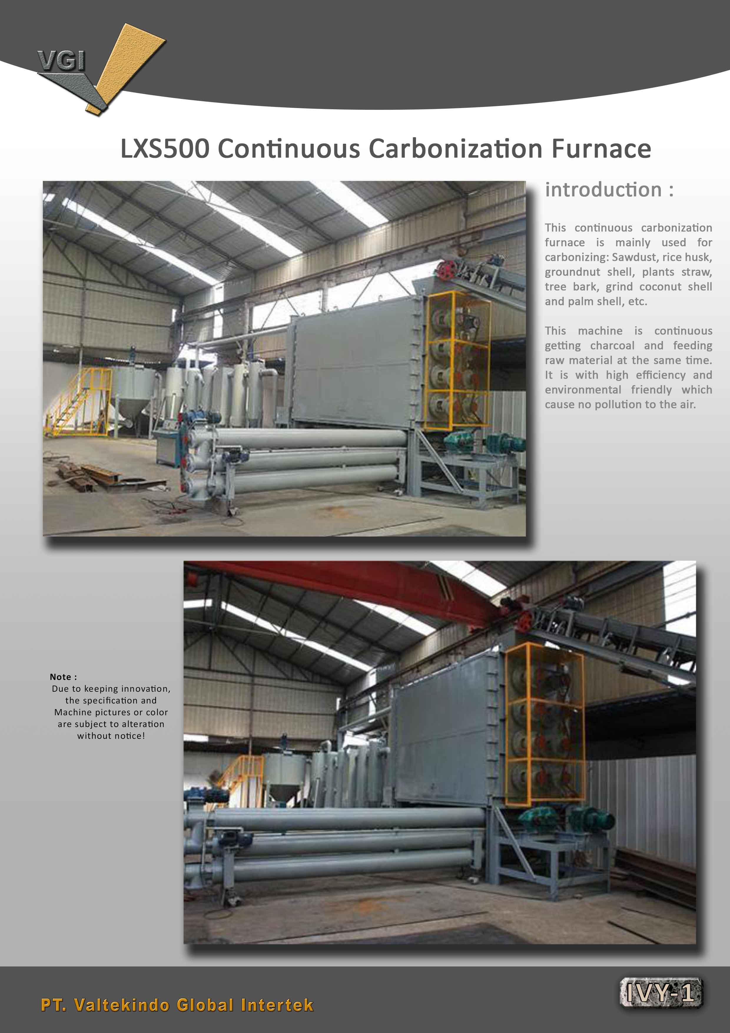 jual mesin Contniuous Carbonization Furnace (intro)