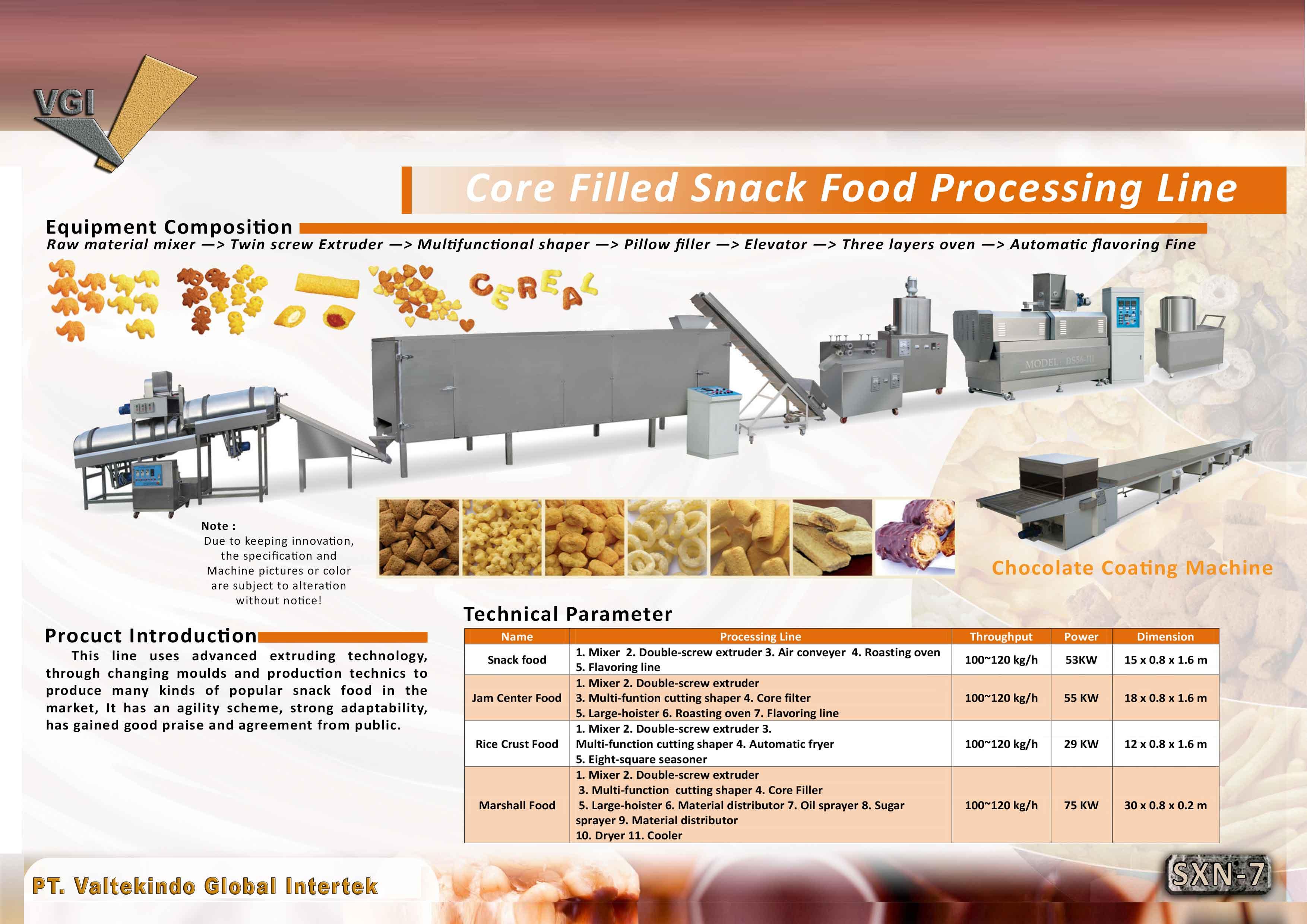 jual mesin Core Filled Snack Food Processing  Core Filled Snack Food Processing