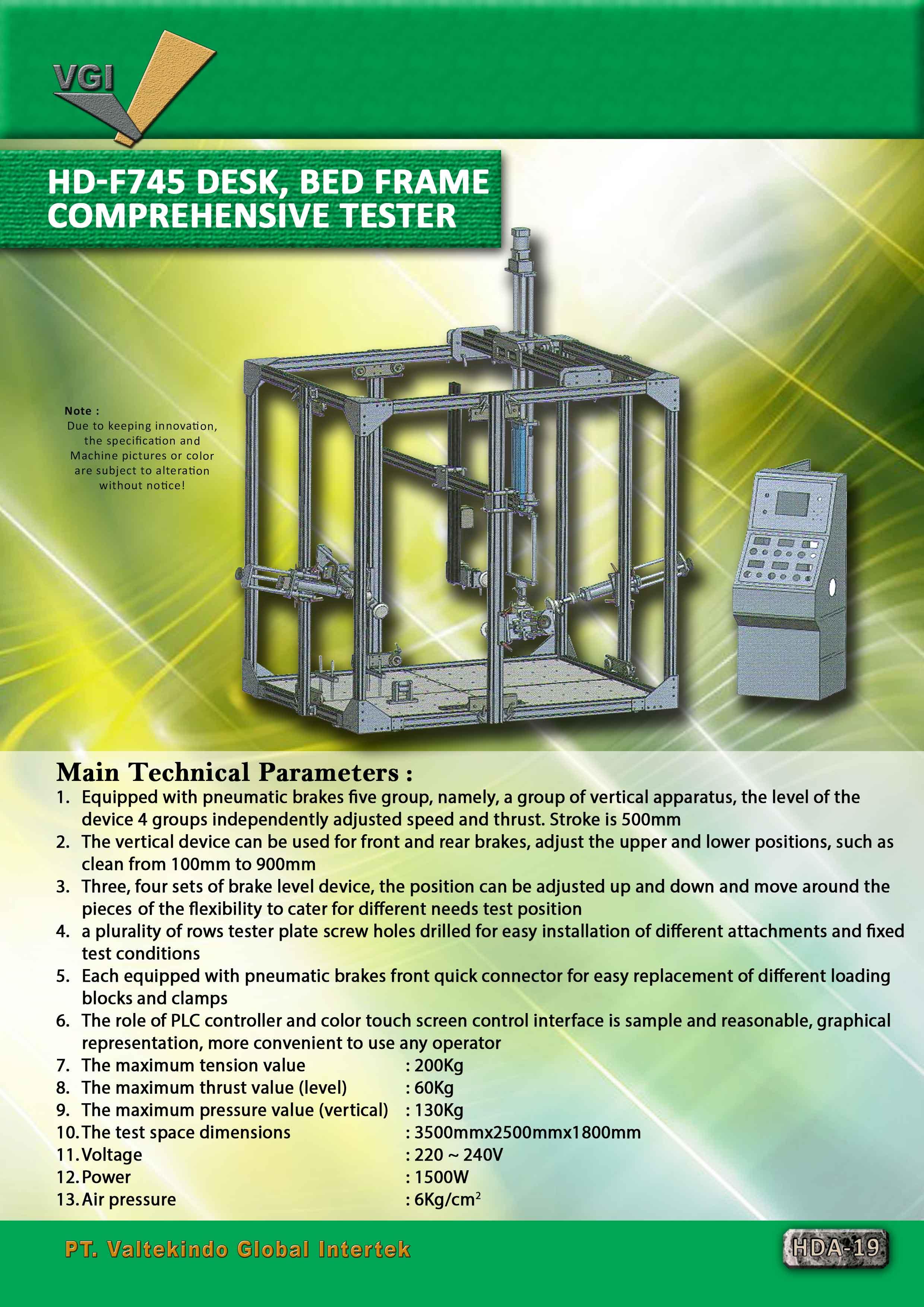 jual mesin Desk Bed Frame Comprehensive Tester Desk Bed Frame Comprehensive Tester