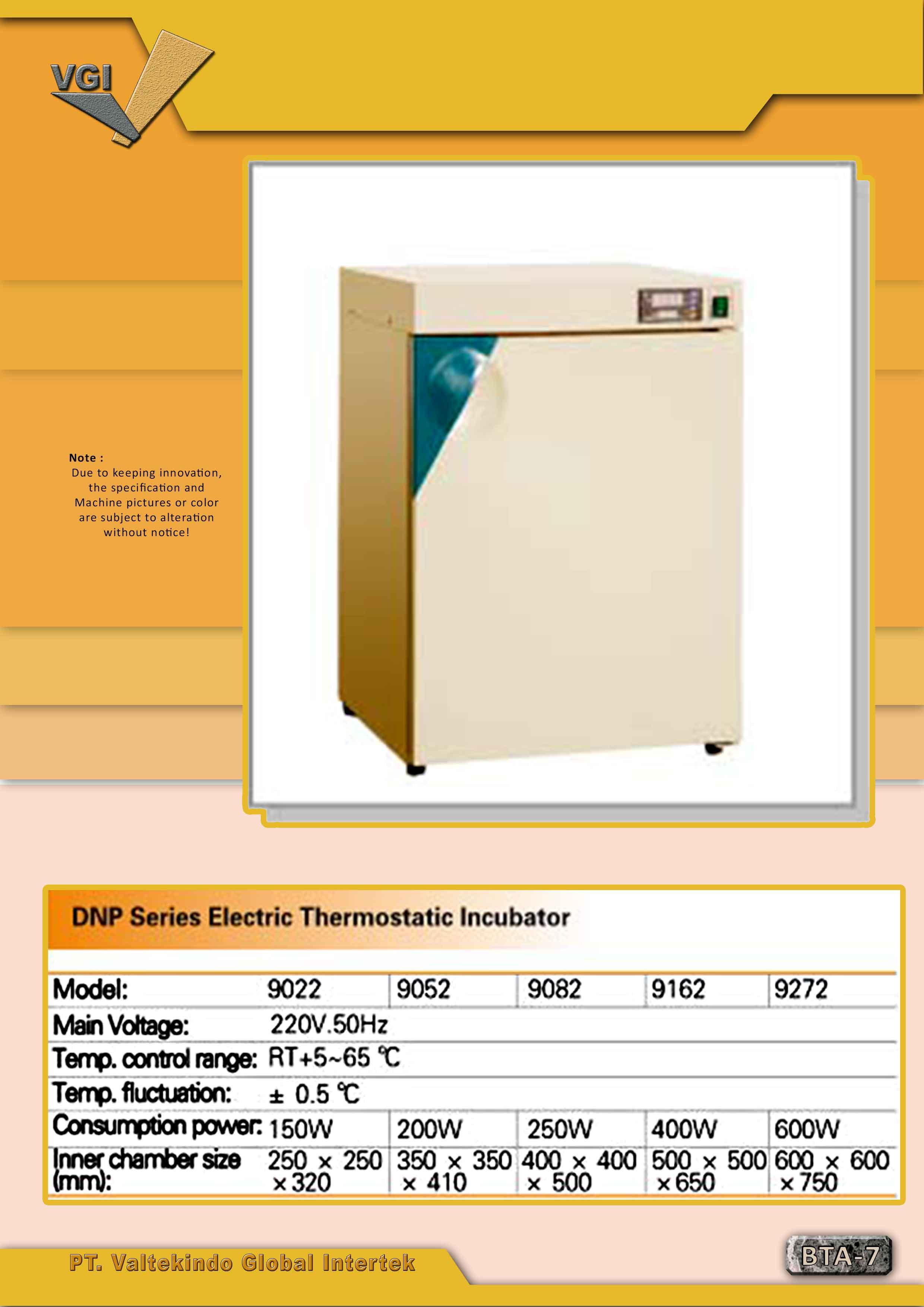 jual mesin Electric Thermostatic Incubator Electric Thermostatic Incubator