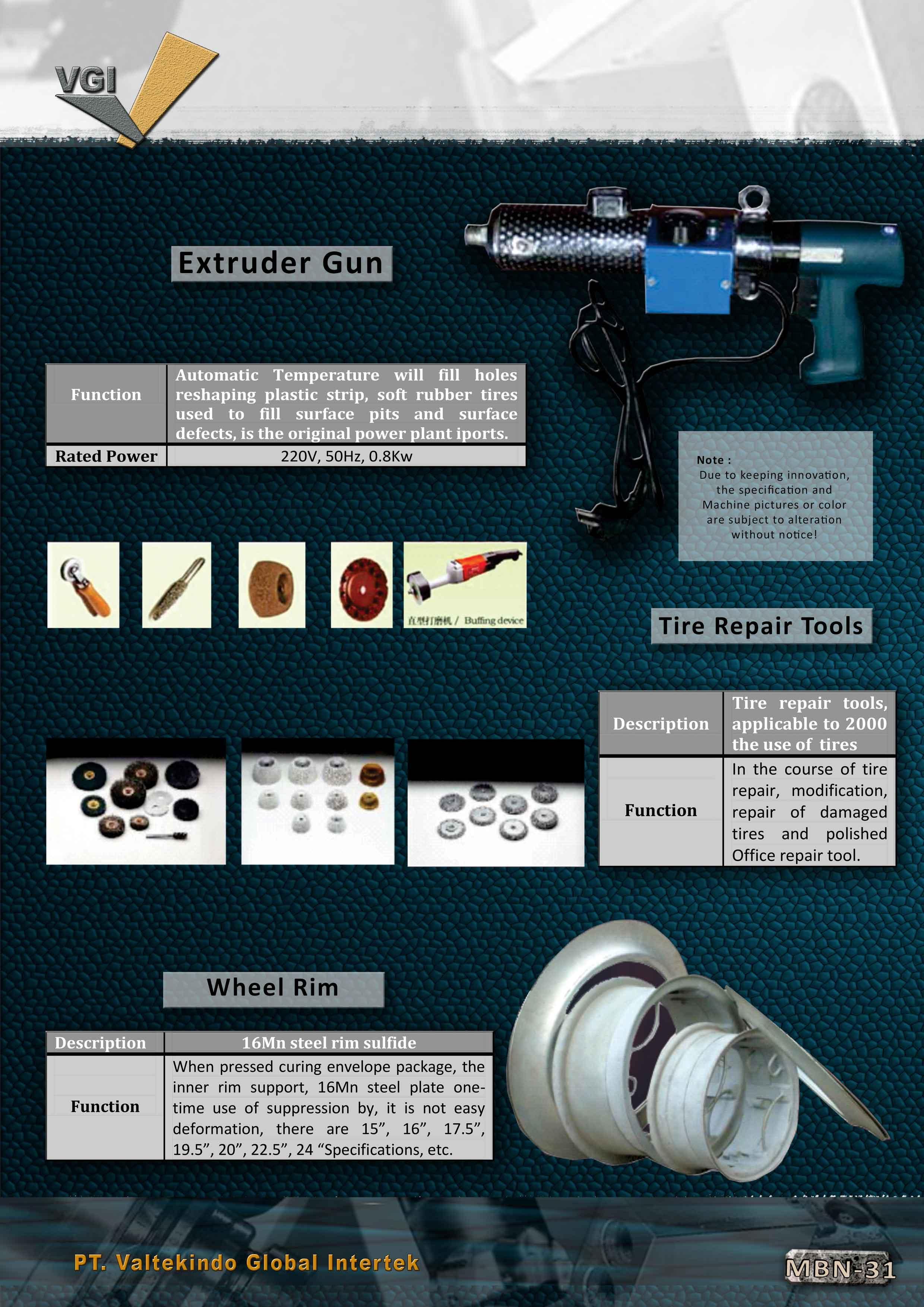 jual mesin Extruder Gun , Tire Repair Tools , Wheel Rim  Extruder Gun , Tire Repair Tools , Wheel Rim