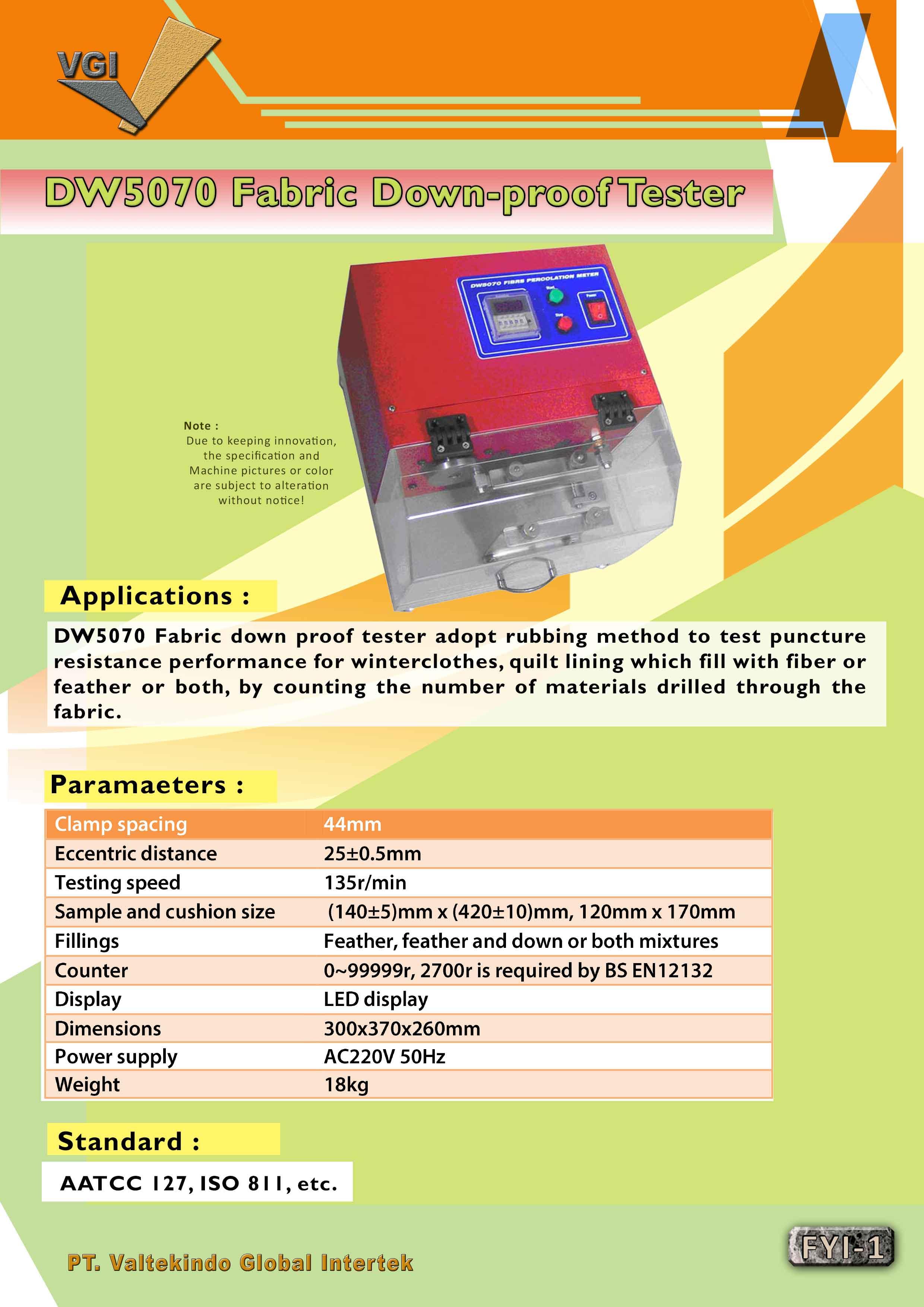 jual mesin, harga mesin, jual mesin bandung, distributor mesin, jual mesin karet, daur ulang karet, daur ulang plastik, mesin pertanian Fabric Down-Proof Tester  Fabric Down-Proof Tester