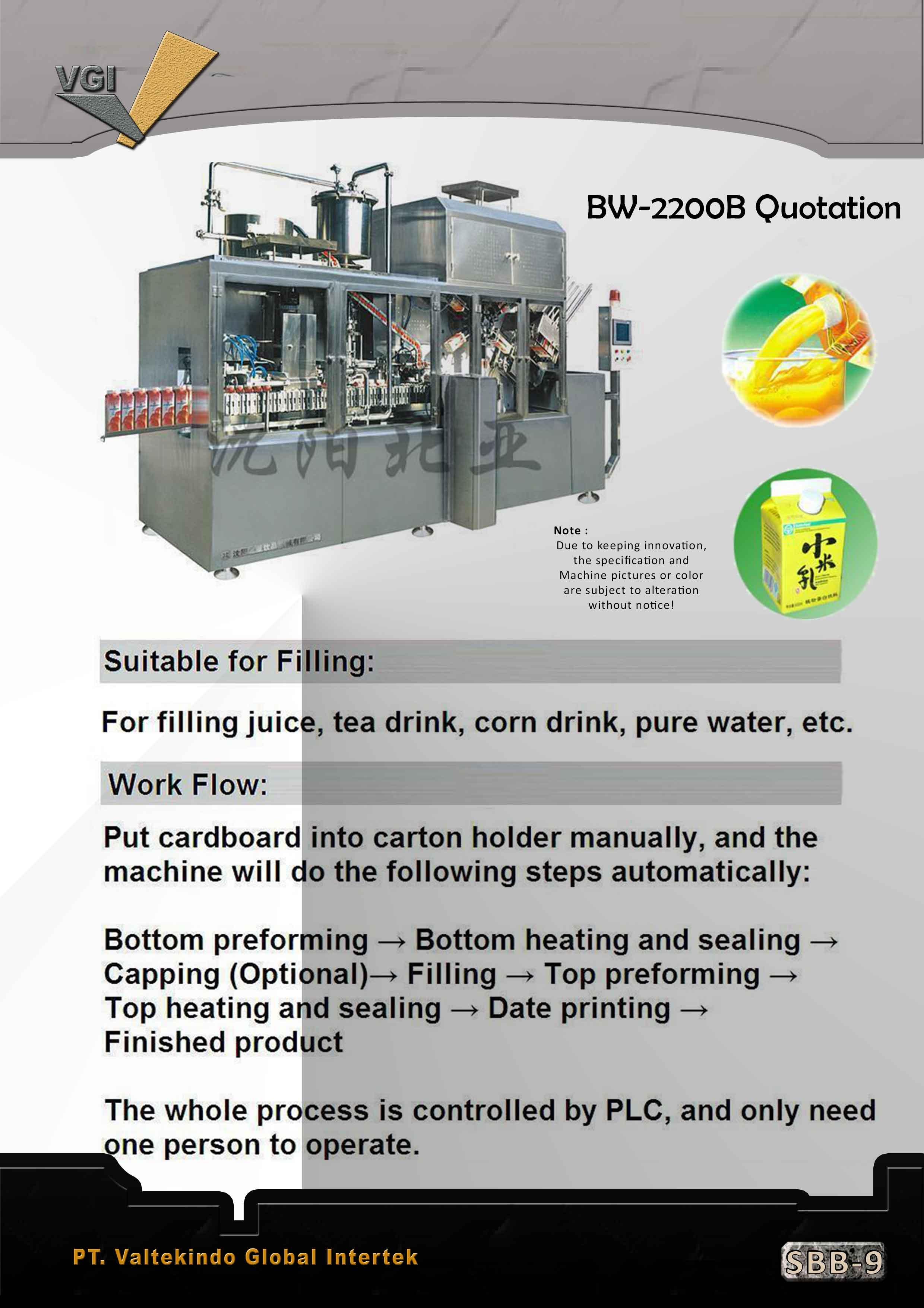 jual mesin Filling Series2 Filling Series2