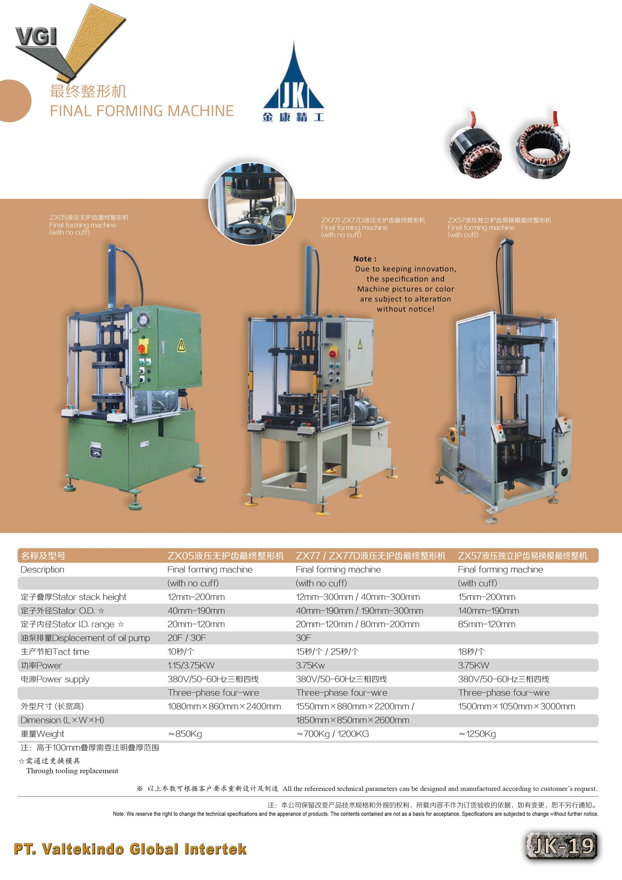 jual mesin Final Forming Machine (With No Cuff) Final Forming Machine (With No Cuff)