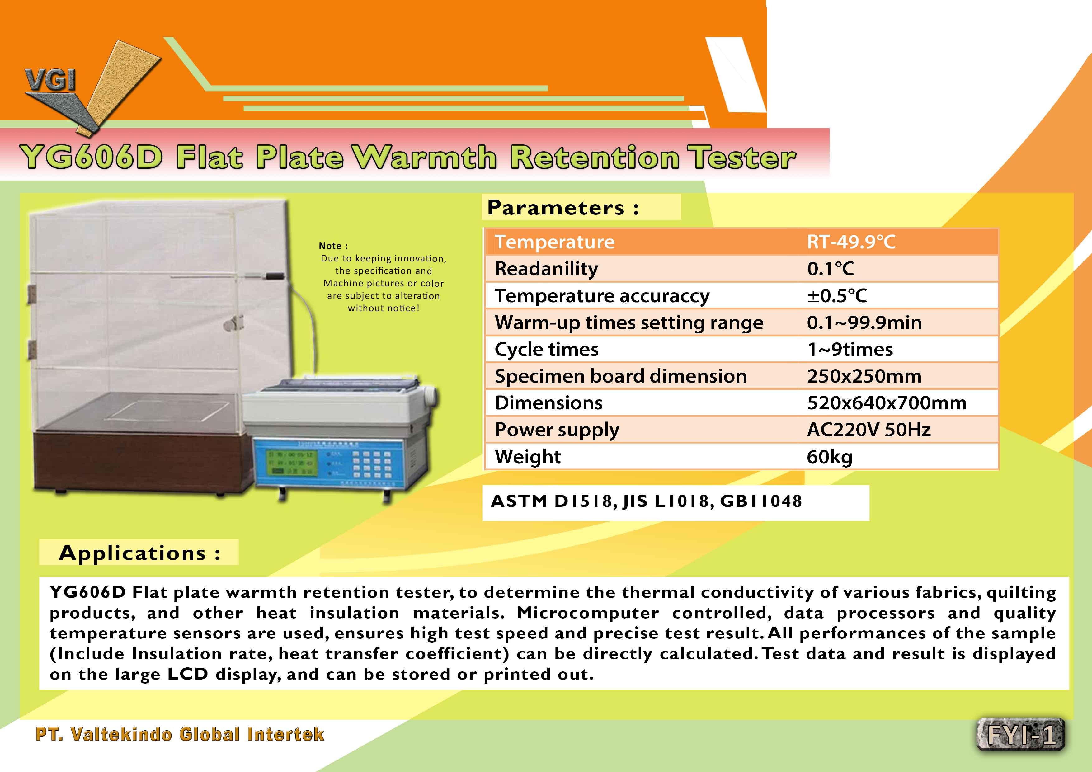 jual mesin Flat Plate Warmth Retention Tester  Flat Plate Warmth Retention Tester
