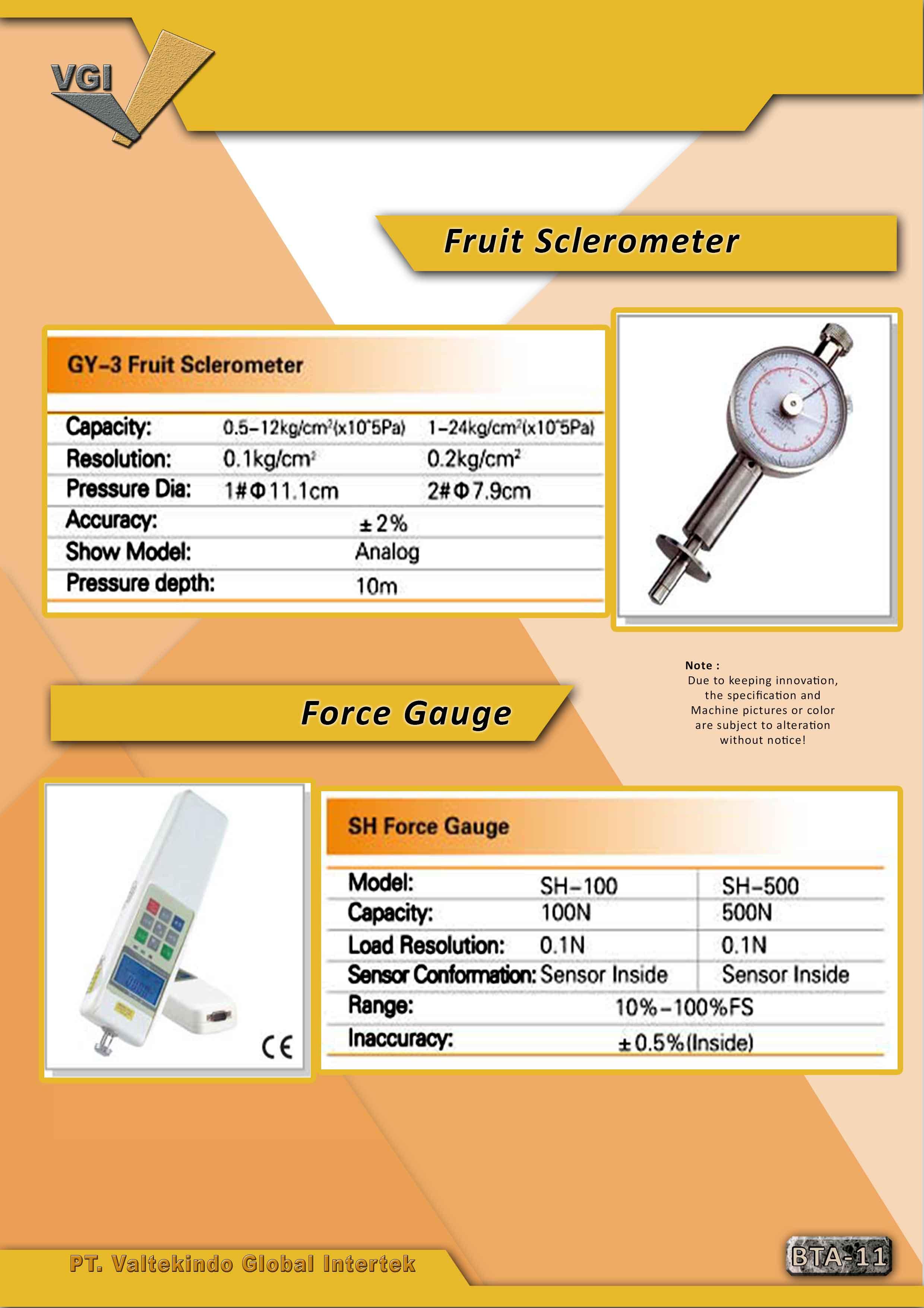 jual mesin Fruit Sclerometer & Force Gauge Fruit Sclerometer & Force Gauge