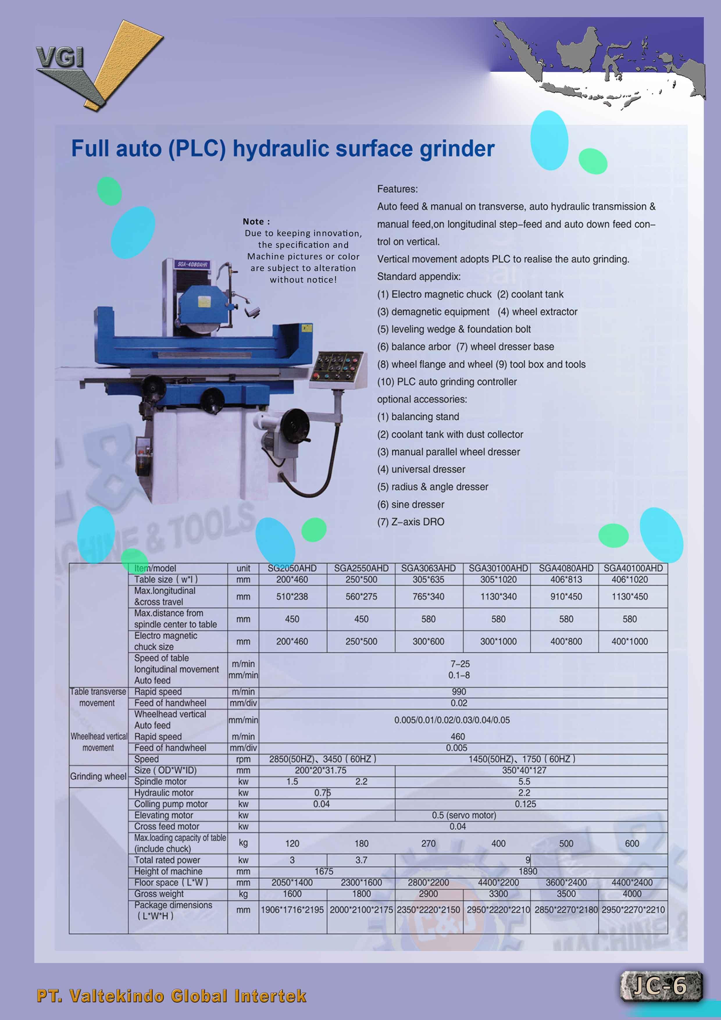jual mesin Full Auto (PLC) Hydraulic Surface Grinder