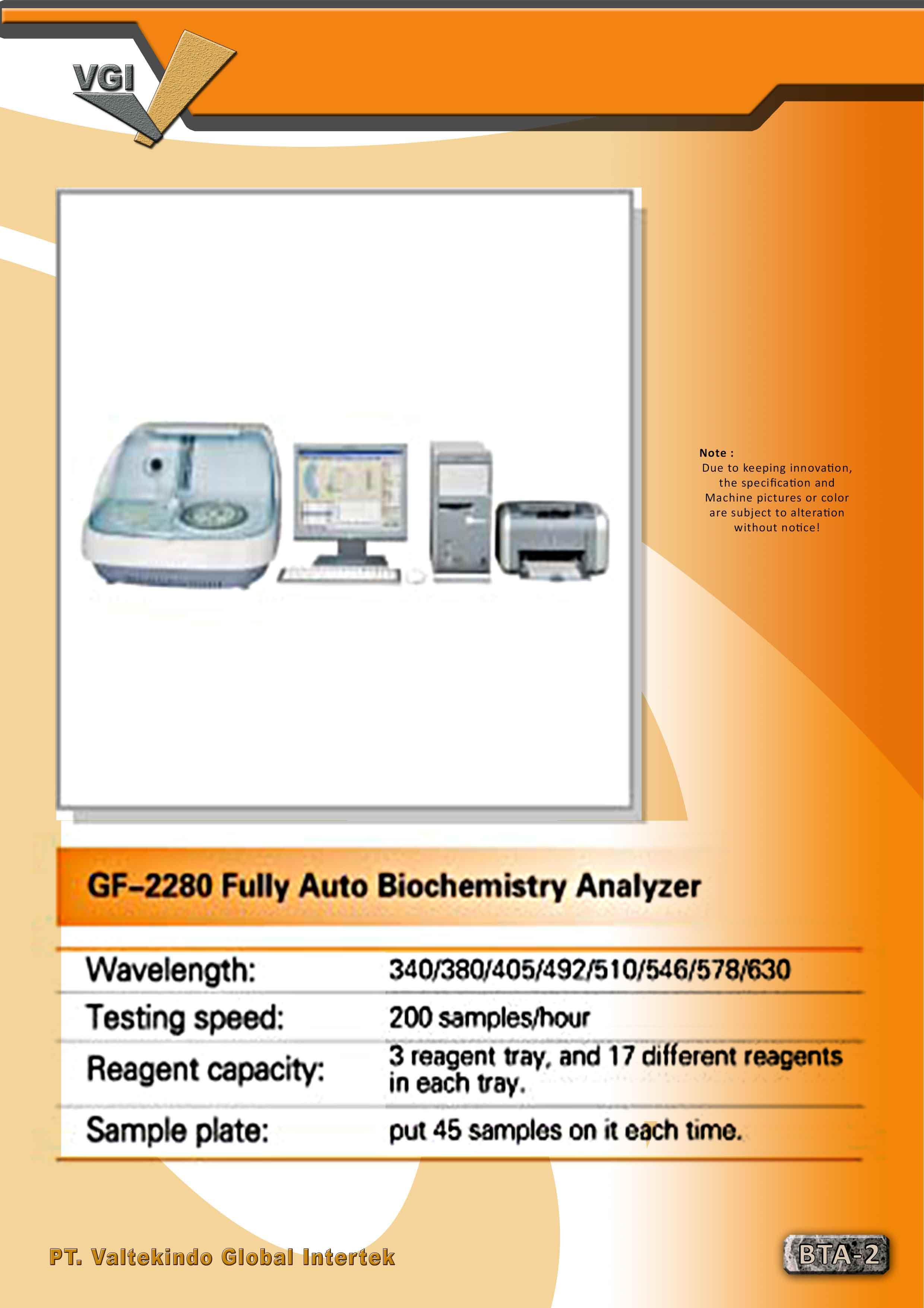 jual mesin Fully Auto Biochemistry Analyzer Fully Auto Biochemistry Analyzer