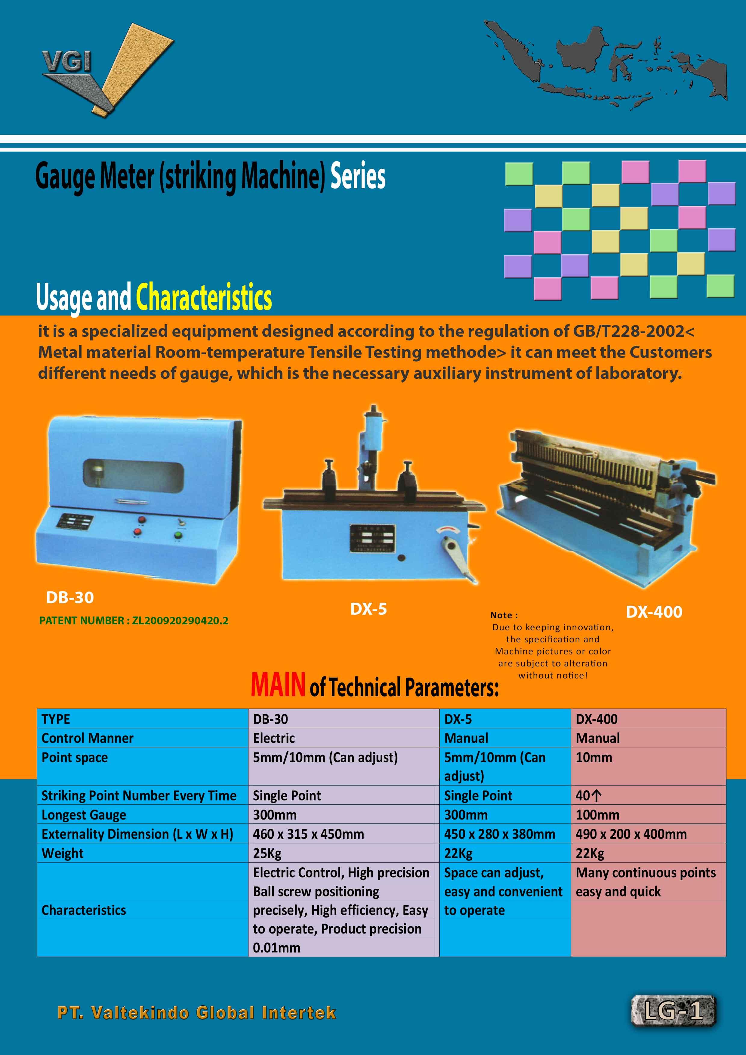 jual mesin Gauge Meter (Striking Machine) Gauge Meter (Striking Machine)
