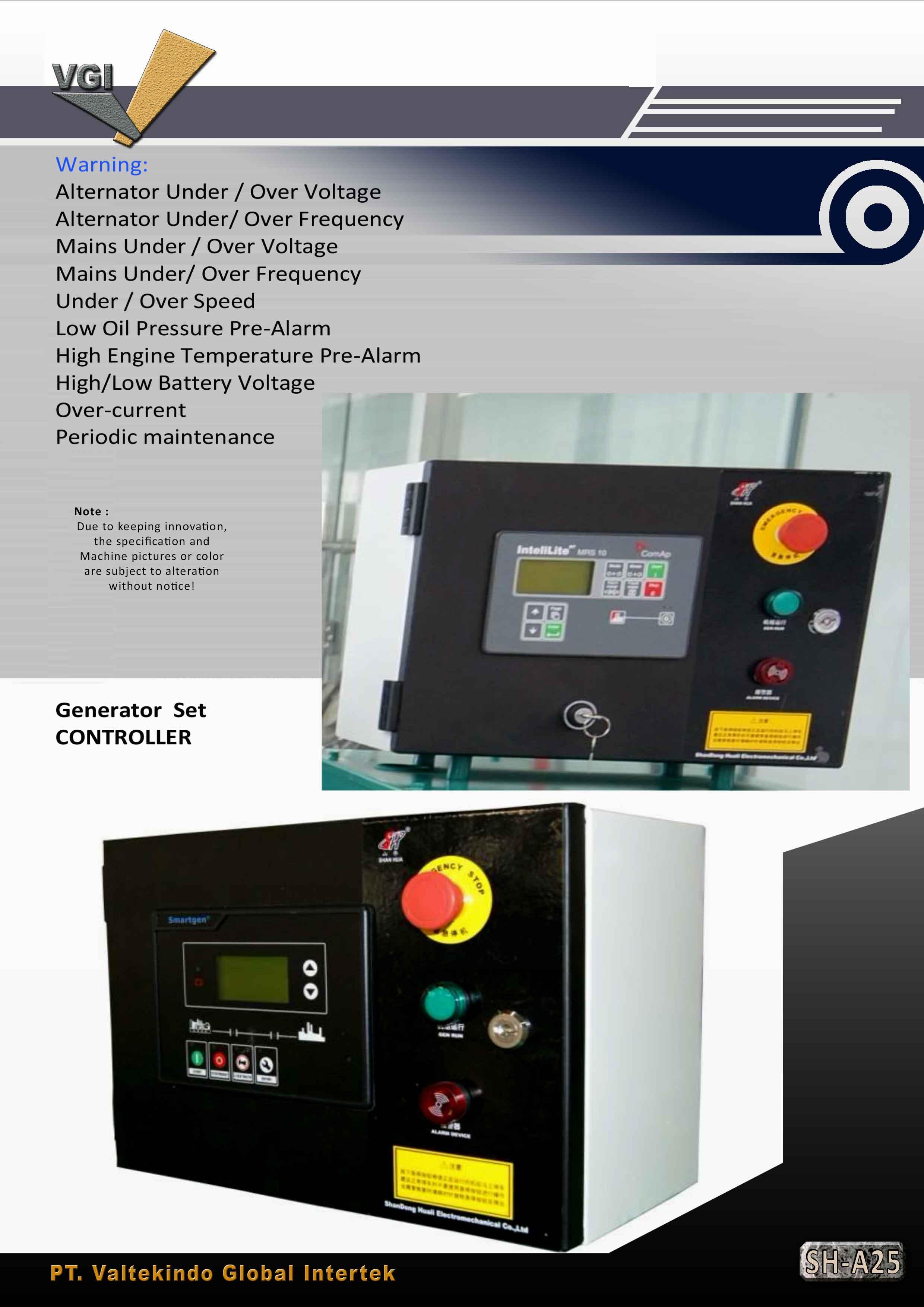 jual mesin, harga mesin, distributor mesin, jual mesin karet, daur ulang plastik Generator Set Controller Generator Set Controller
