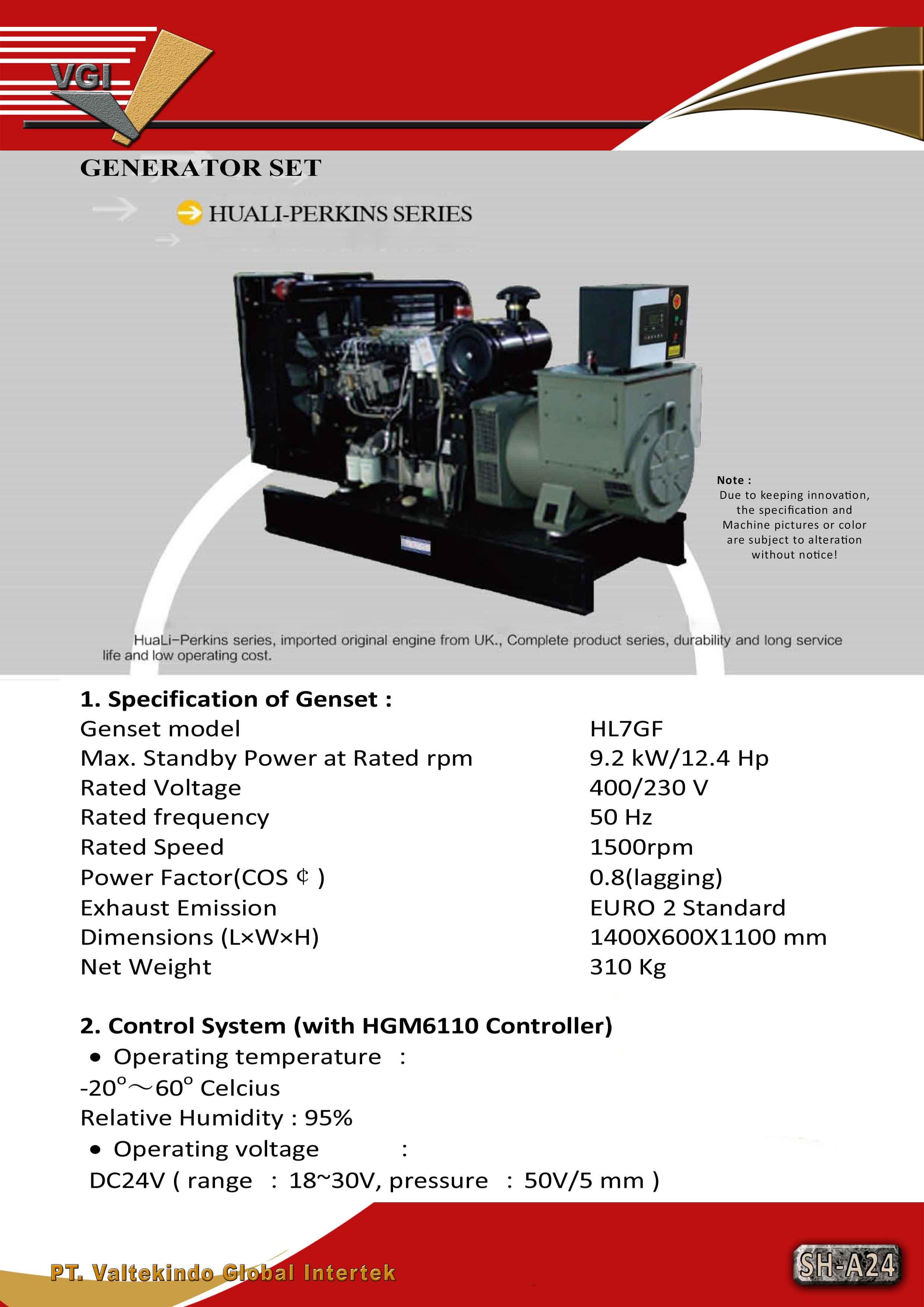 jual mesin Generator Set (Huali Perkins Series) Generator Set (Huali Perkins Series)