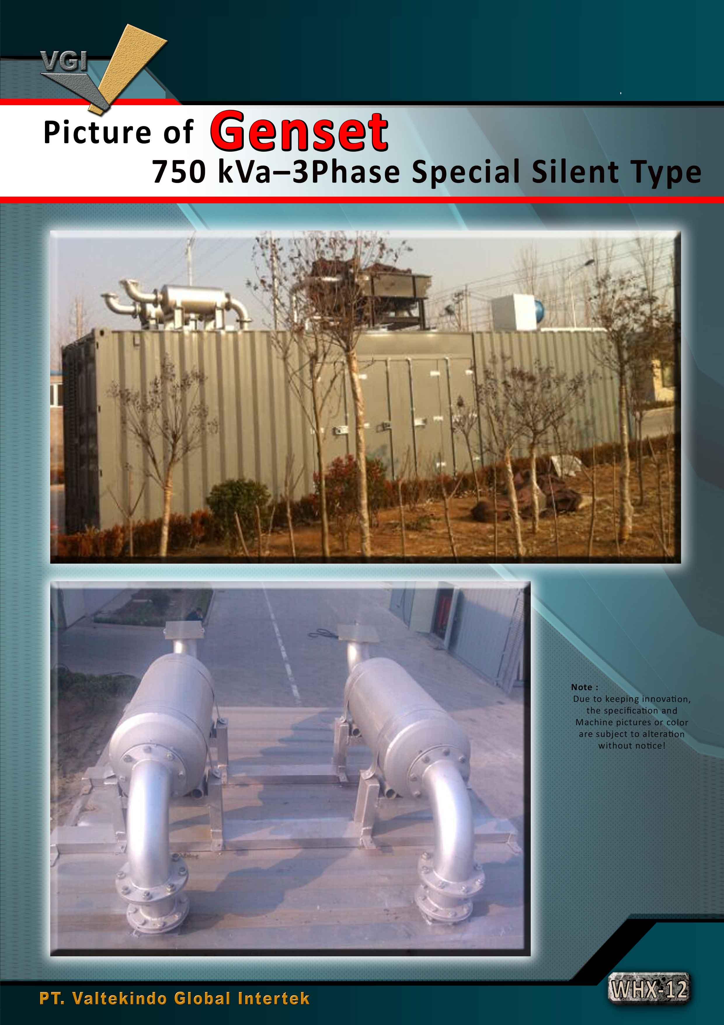 jual mesin Genset 750 kVa Special Silent Type Genset 750 kVa Special Silent Type