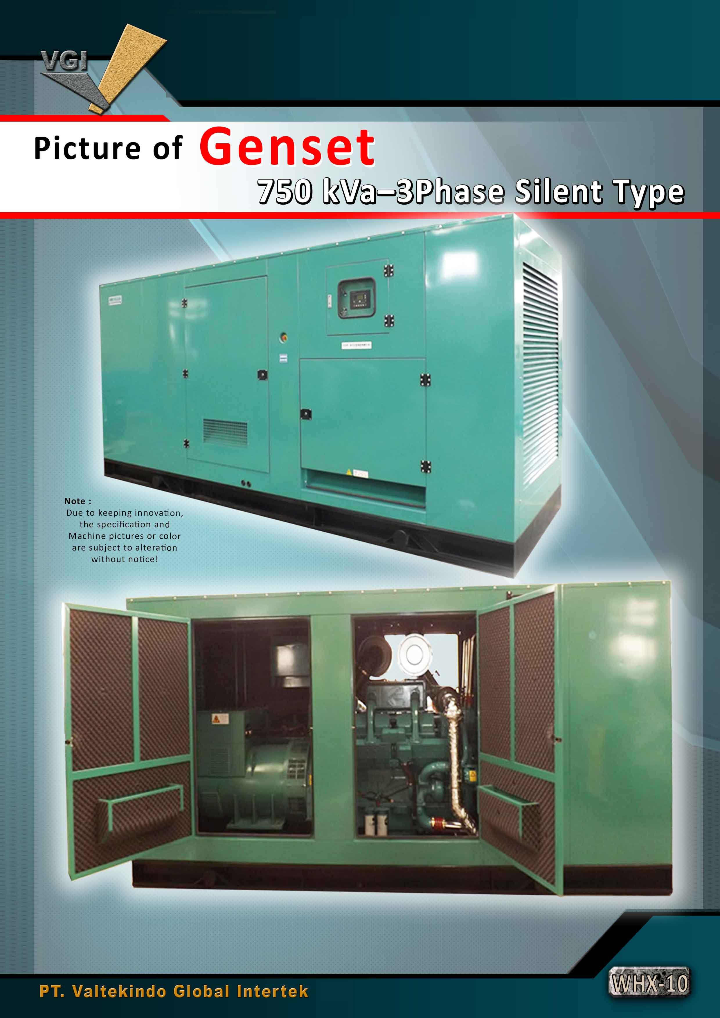 jual mesin Genset Phase Silent Type Genset Phase Silent Type