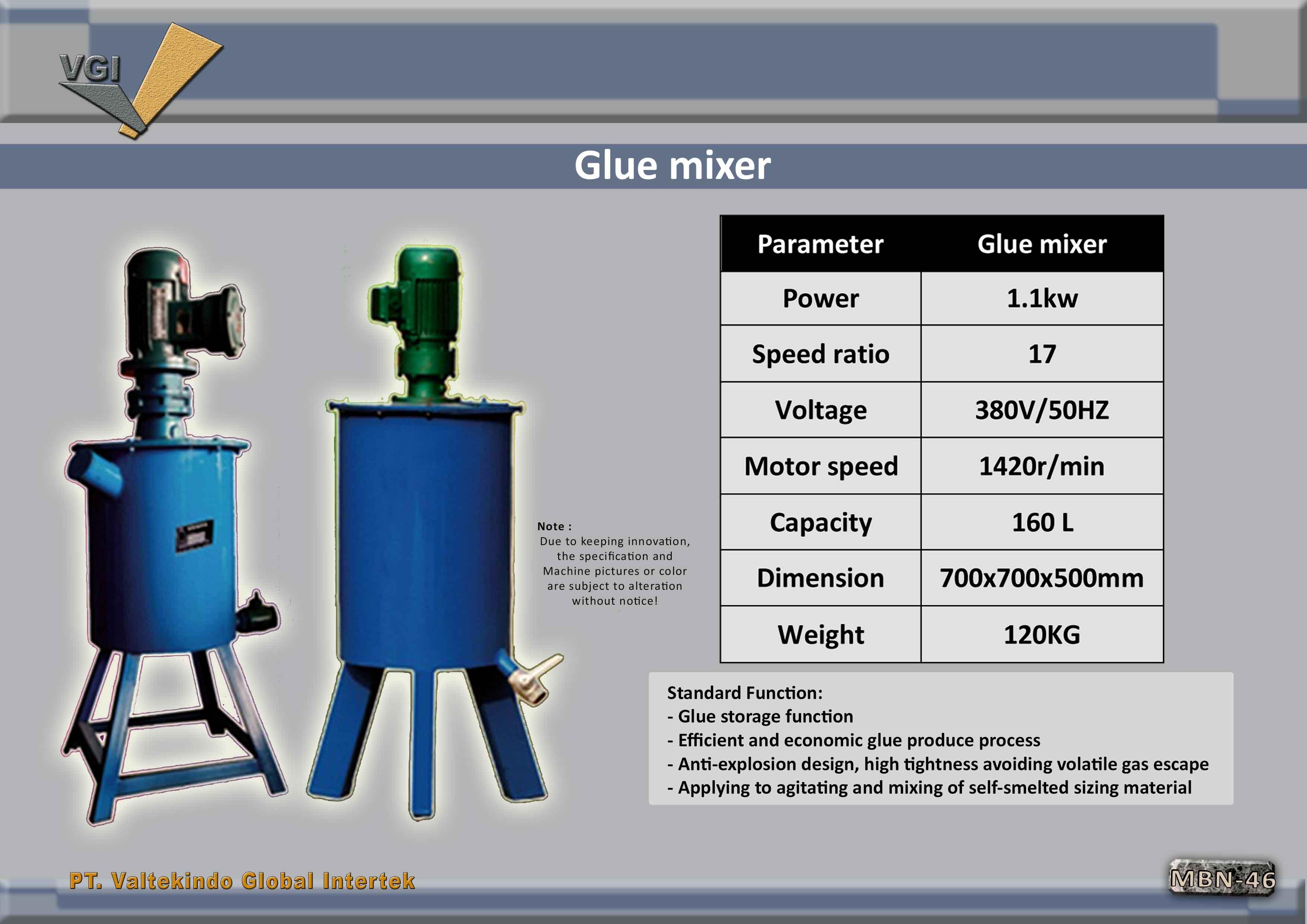 jual mesin Glue mixer  Glue mixer