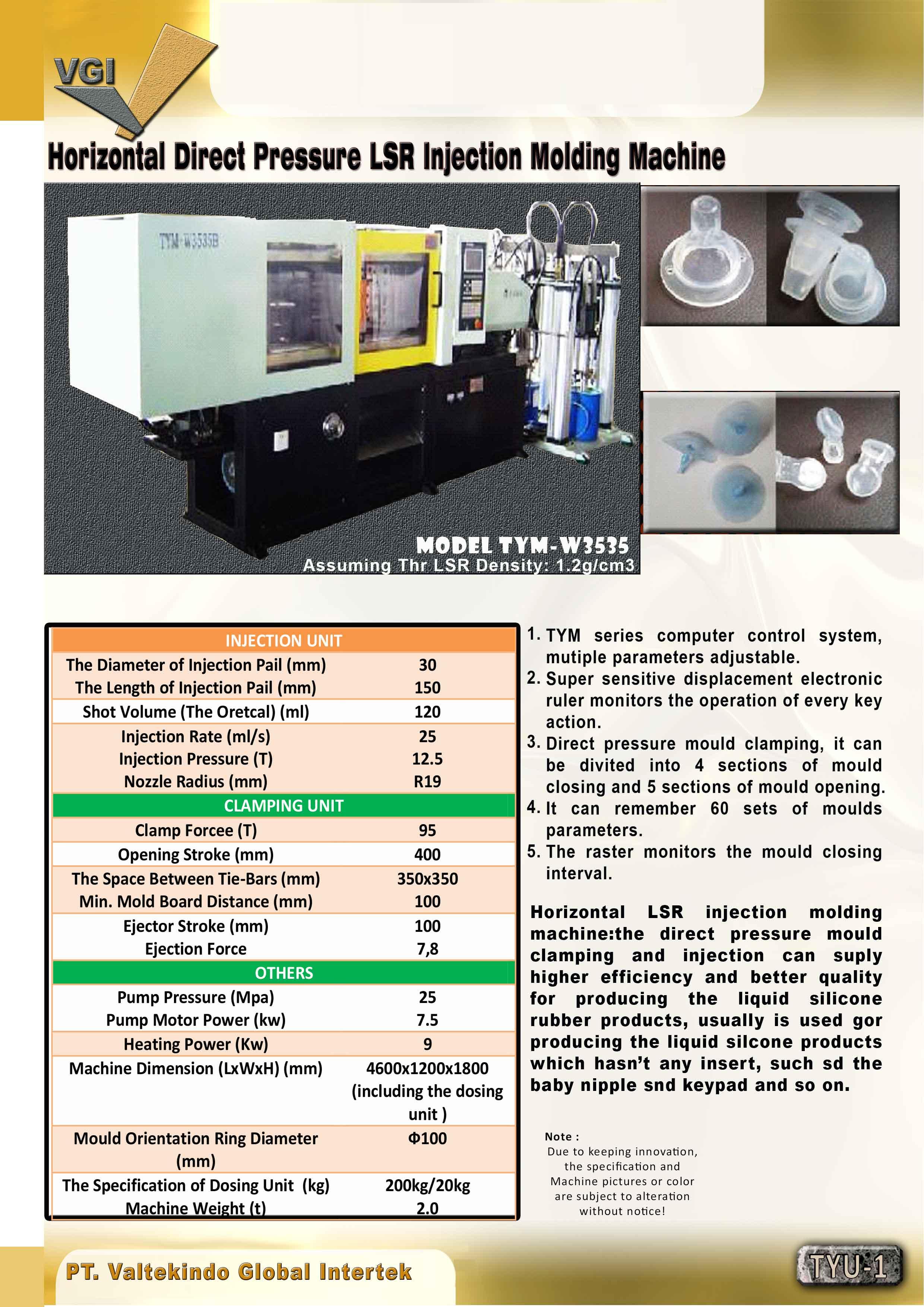 jual mesin Horizontal Direct Pressure LSR Injection Molding Machine Horizontal Direct Pressure LSR Injection Molding Machine