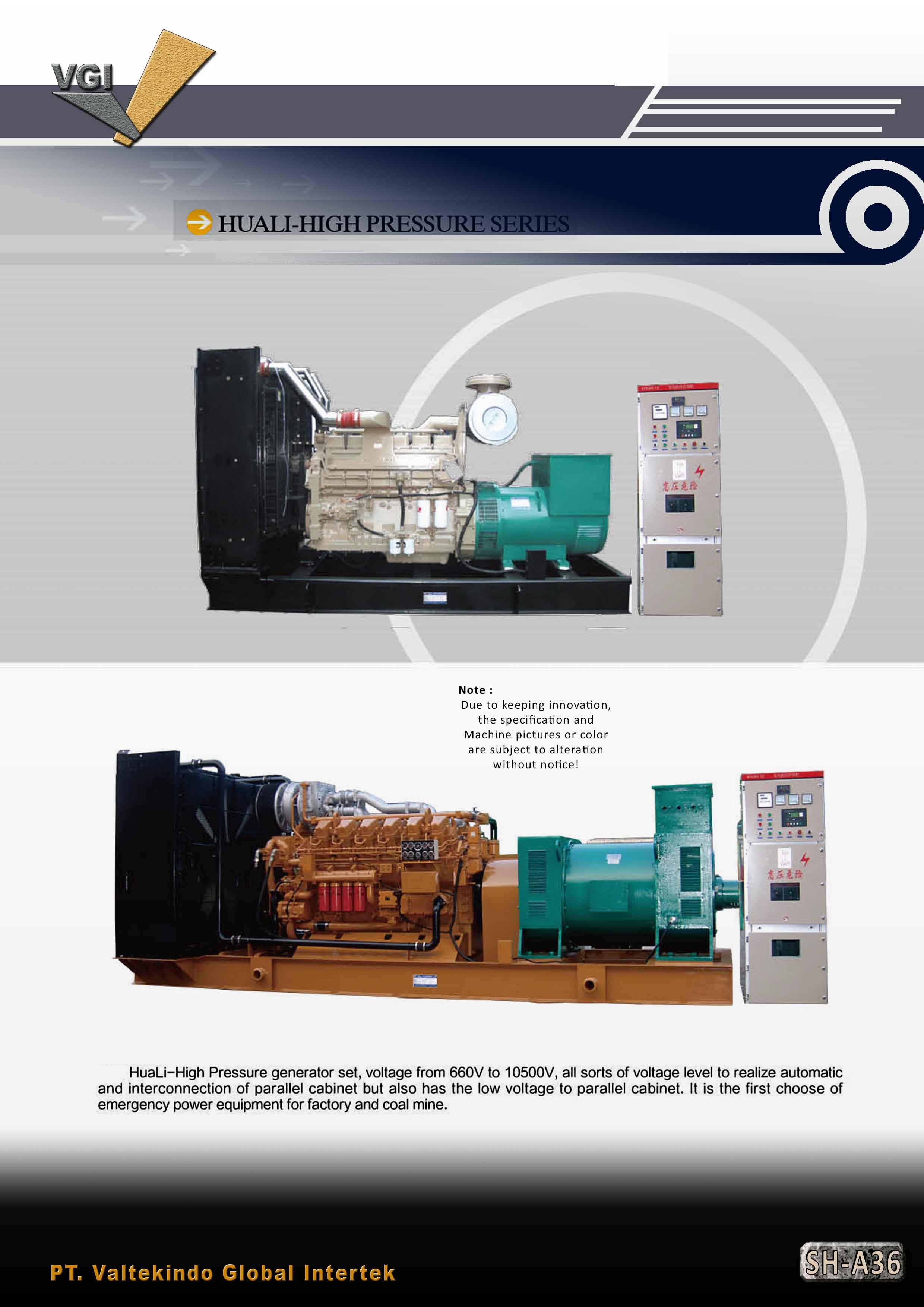 jual mesin, harga mesin, distributor mesin, jual mesin karet, daur ulang plastik Huali High Pressure Series Huali High Pressure Series
