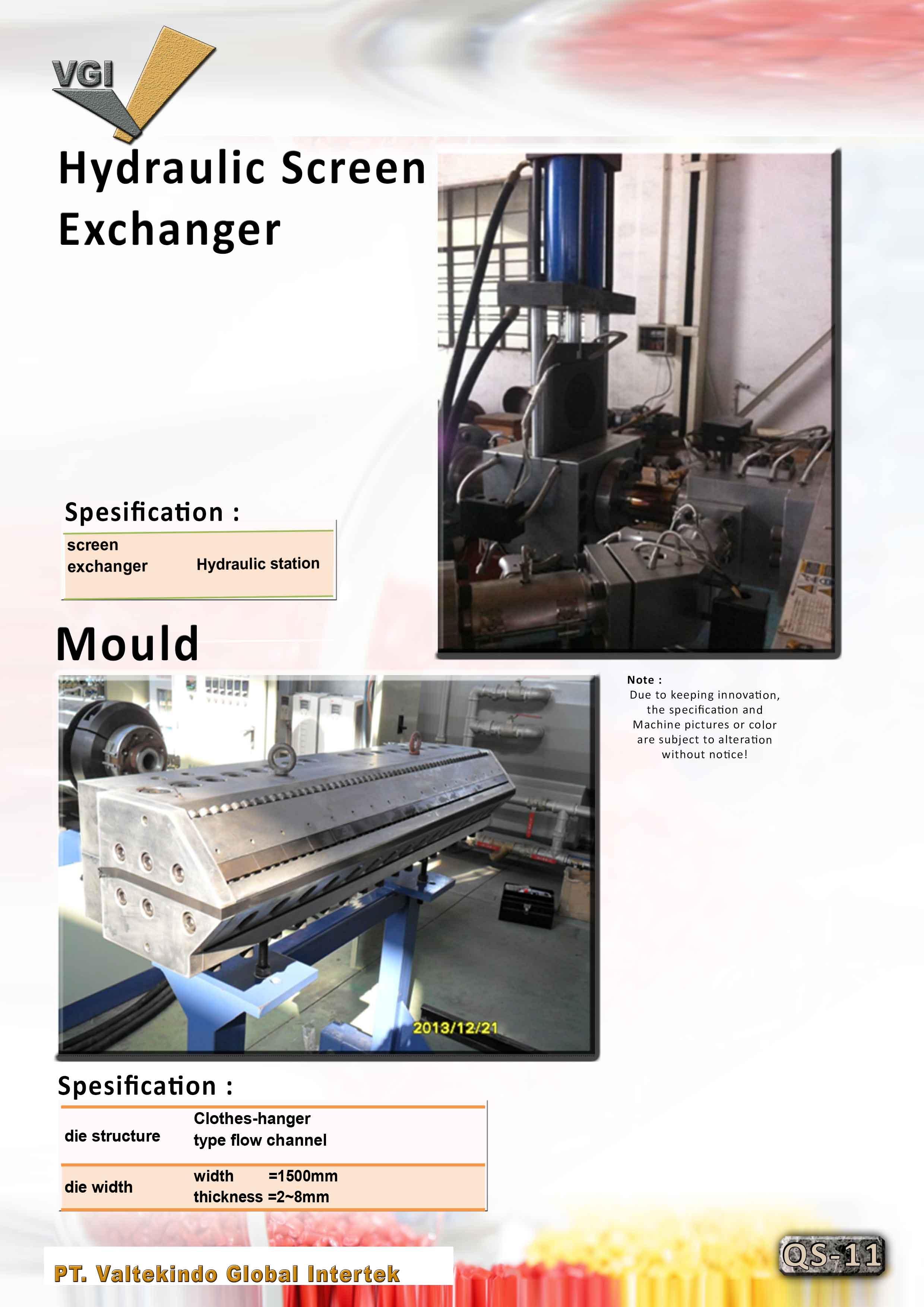 jual mesin Hydraulic Screen & Mould