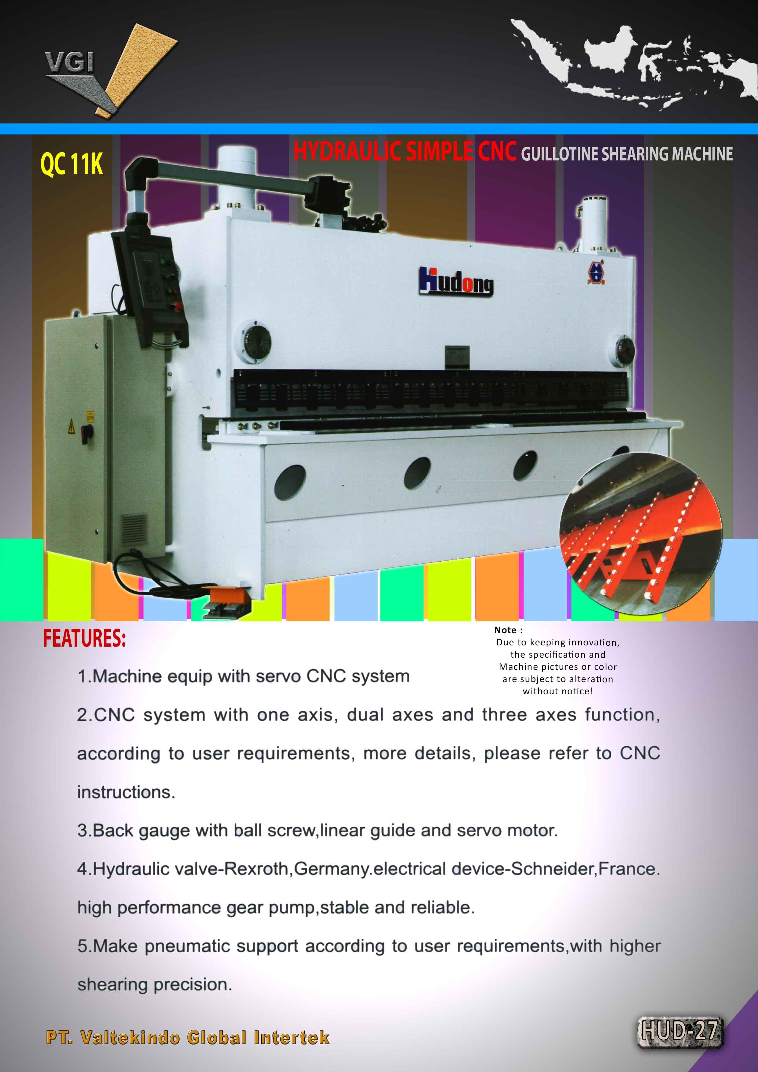 jual mesin Hydraulic Simple Guillotin Shearing Machine