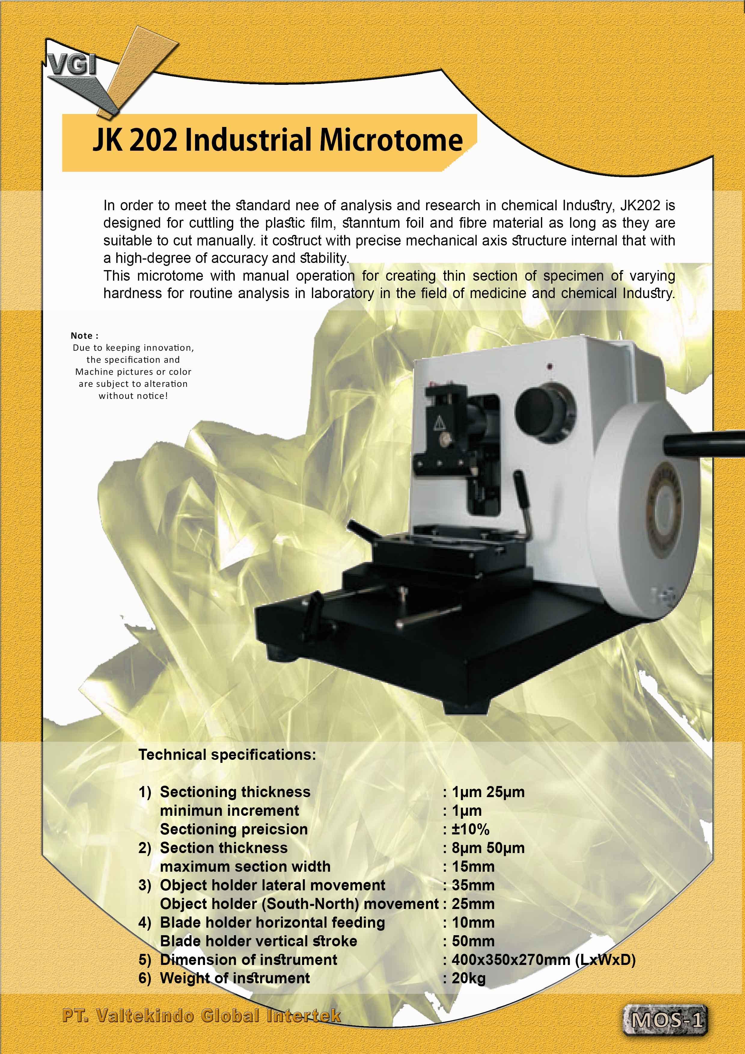 jual mesin, harga mesin, jual mesin bandung, distributor mesin, jual mesin karet, daur ulang karet, daur ulang plastik, mesin pertanian Industrial Microtome Industrial Microtome