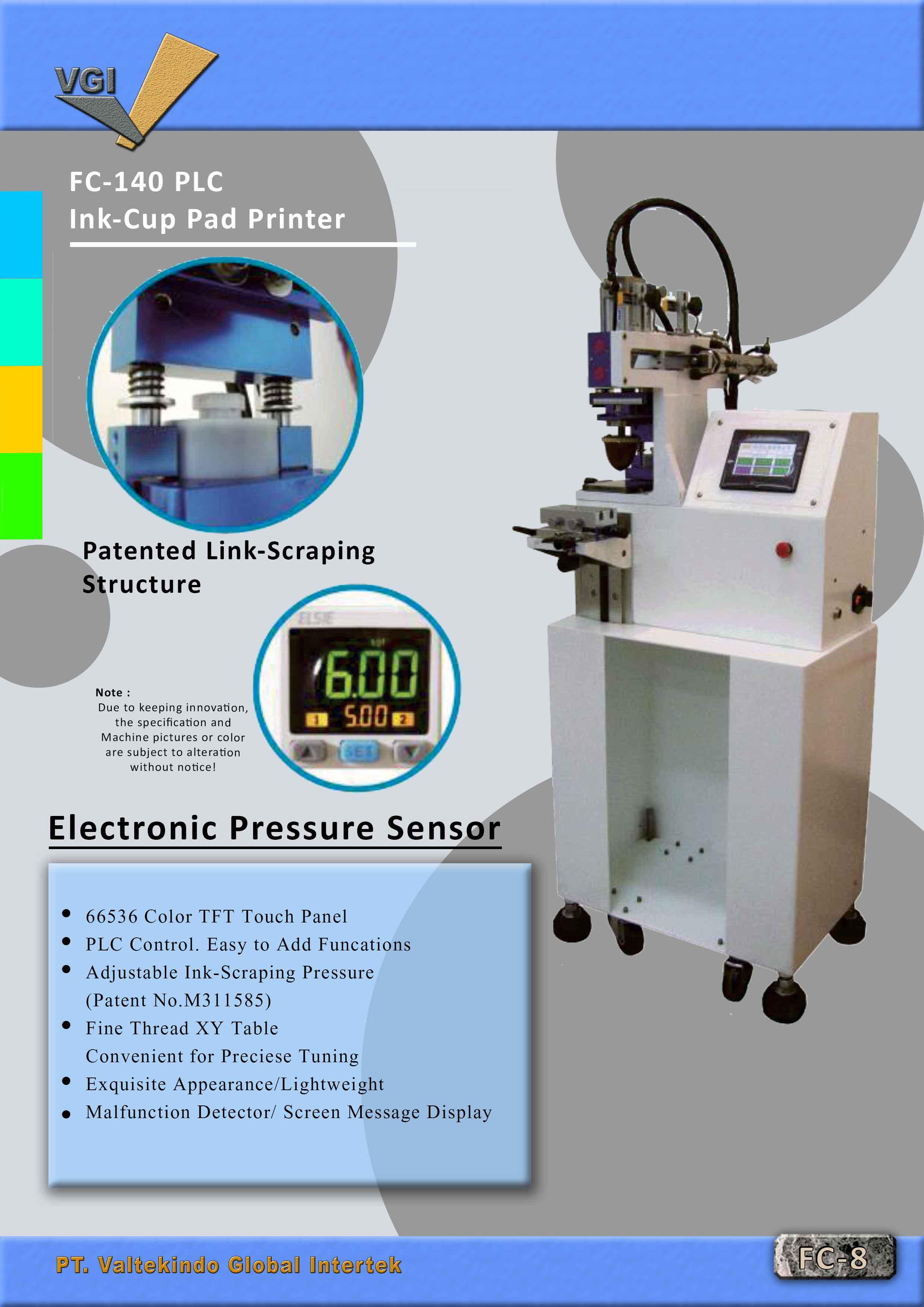 jual mesin Ink Cup Pad Printer Ink Cup Pad Printer