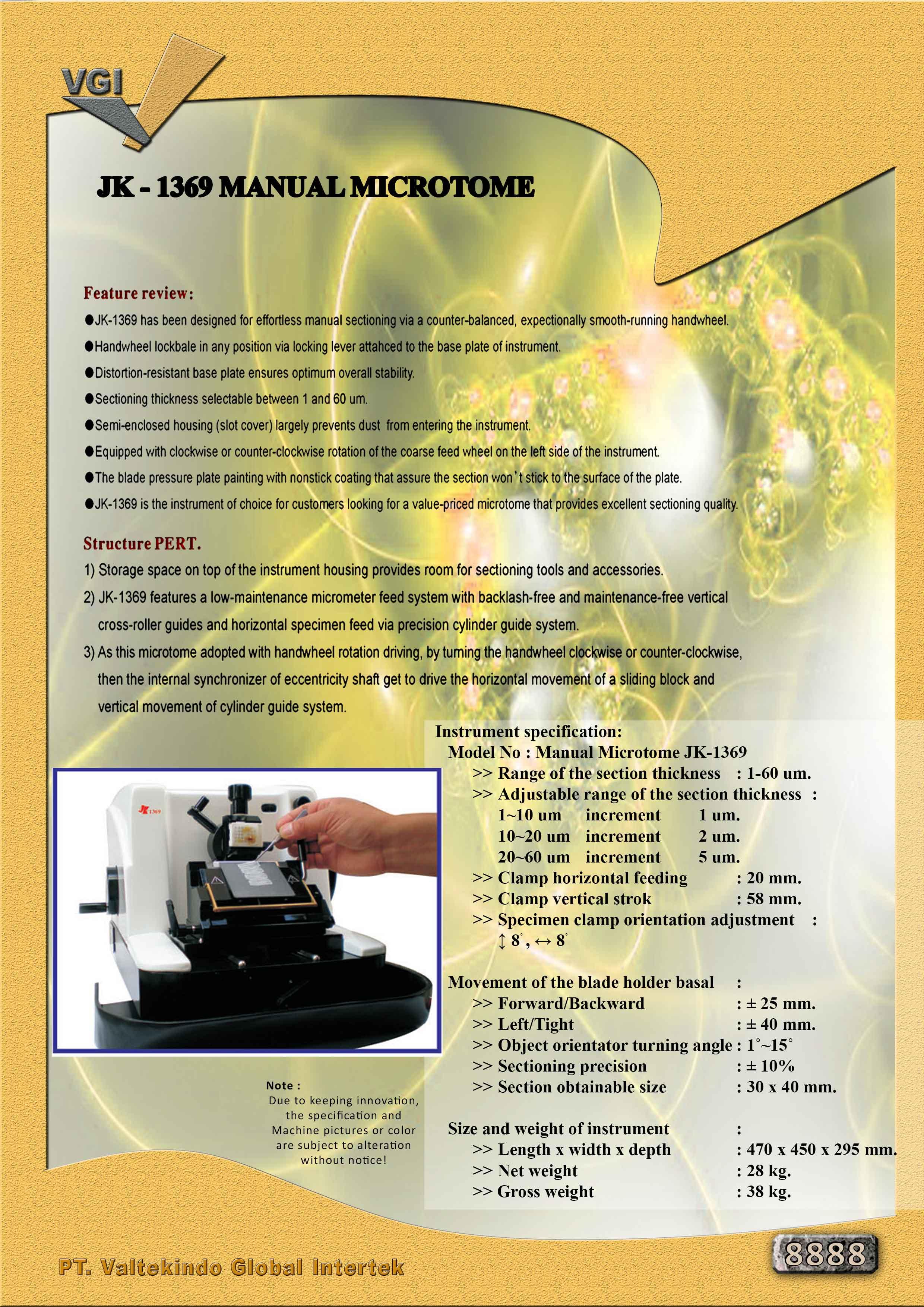 jual mesin Manual Microtome Manual Microtome
